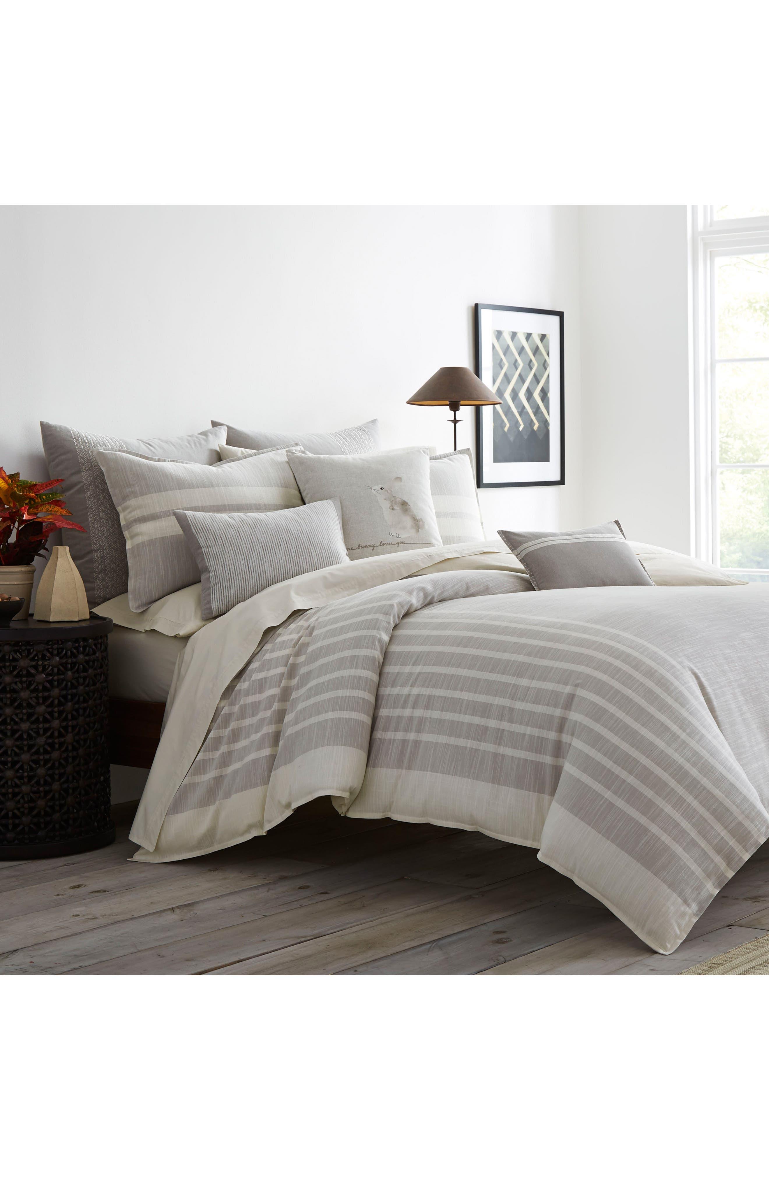 Claremont Comforter & Sham Set,                             Main thumbnail 1, color,                             Pastel Grey