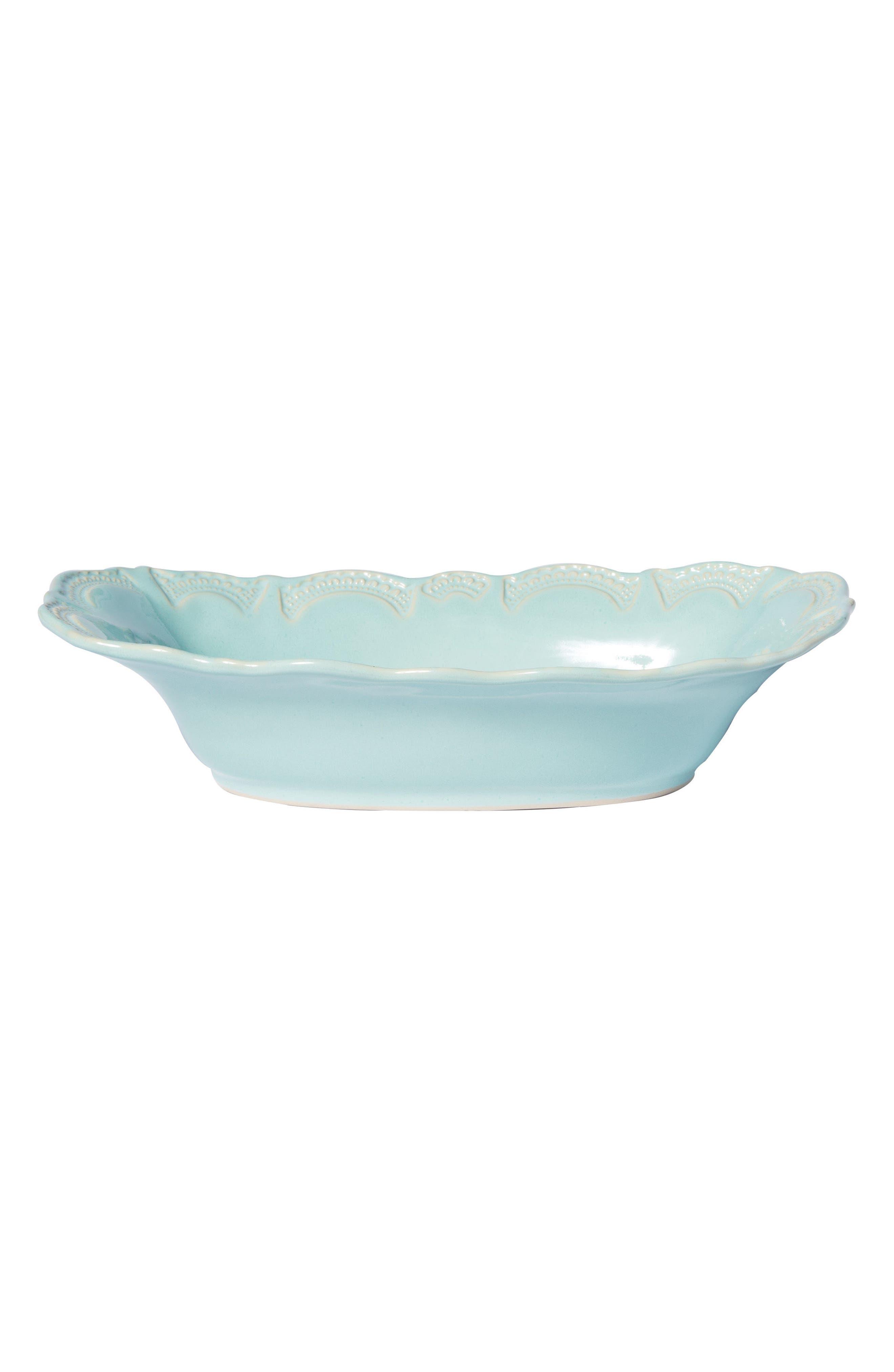 Incanto Stone Au Gratin Dish,                             Main thumbnail 1, color,                             Aqua - Large