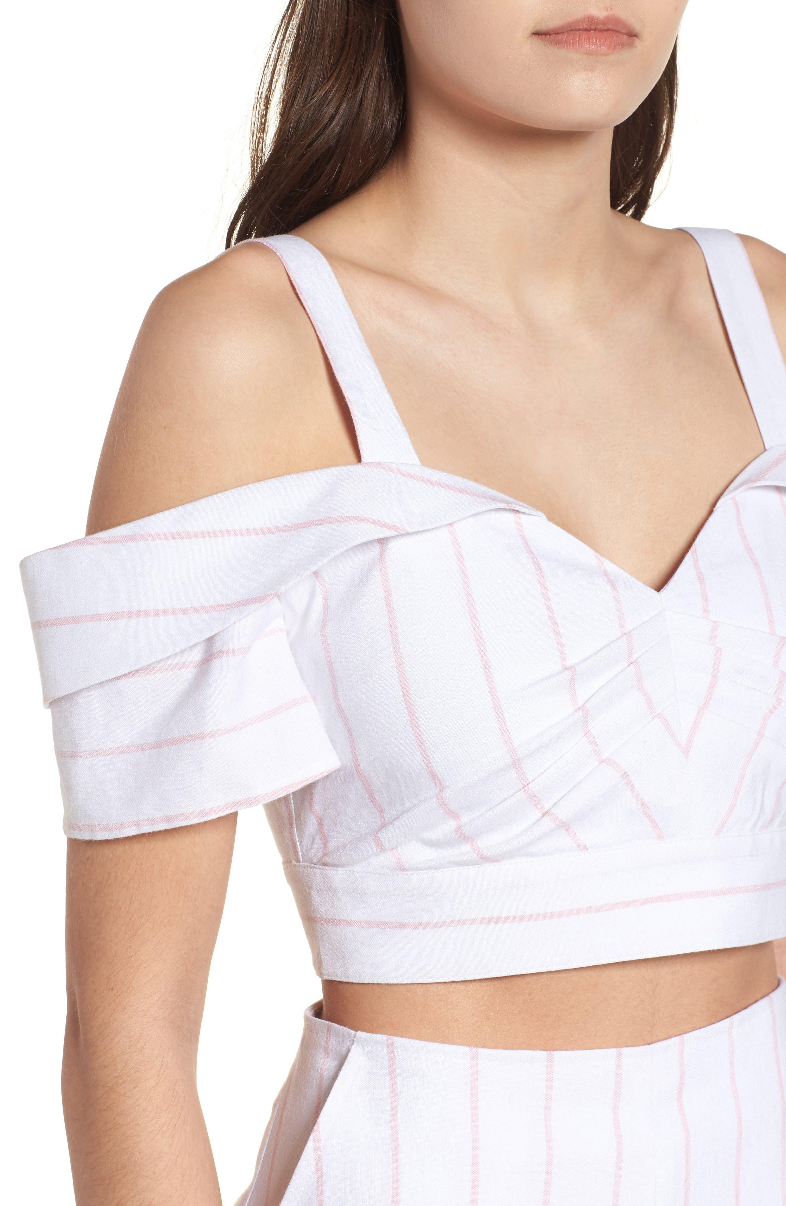 Alternate Image 5  - Leith Cold Shoulder Crop Top