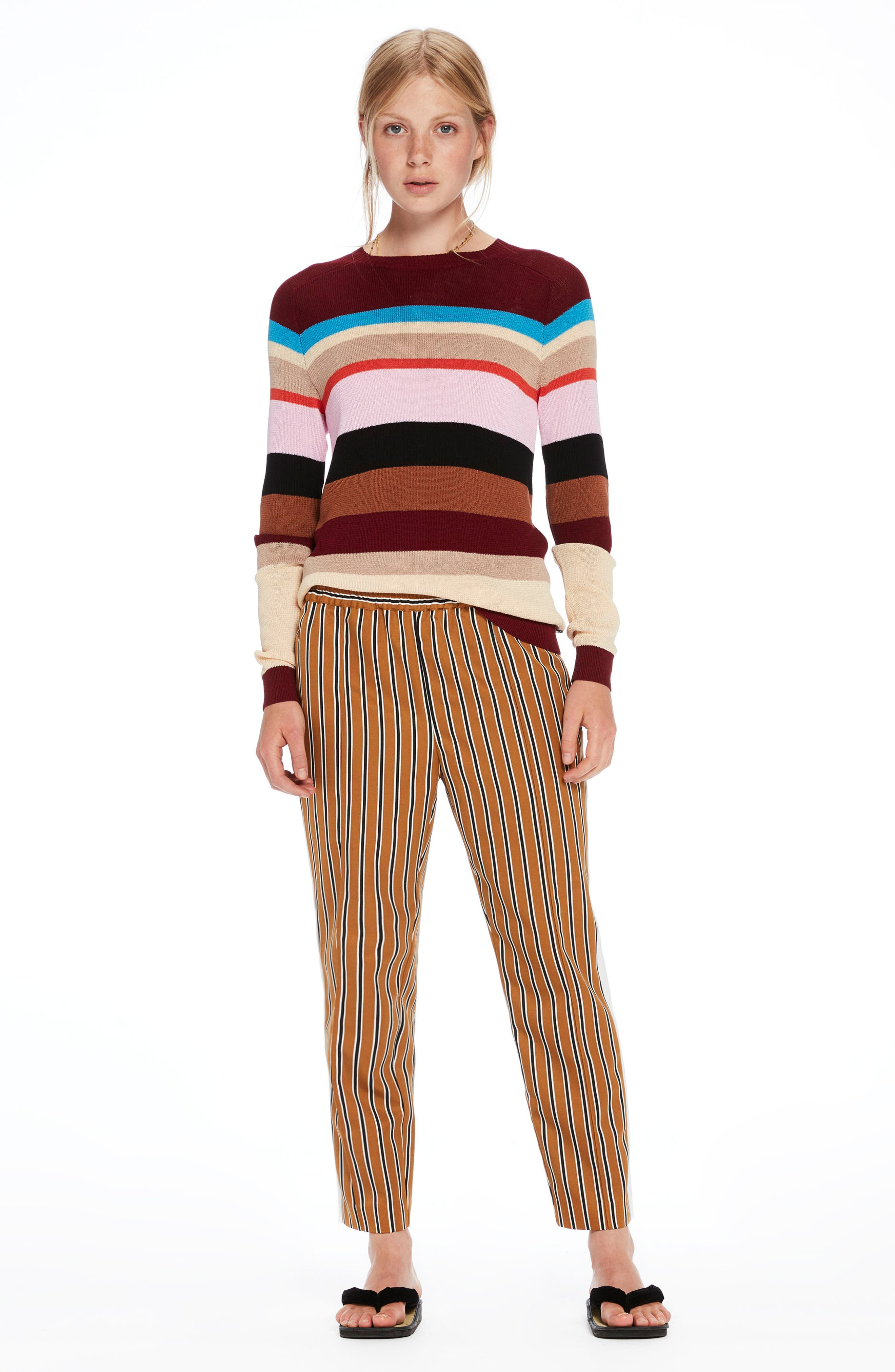 Colorful Stripe Sweater,                             Alternate thumbnail 6, color,