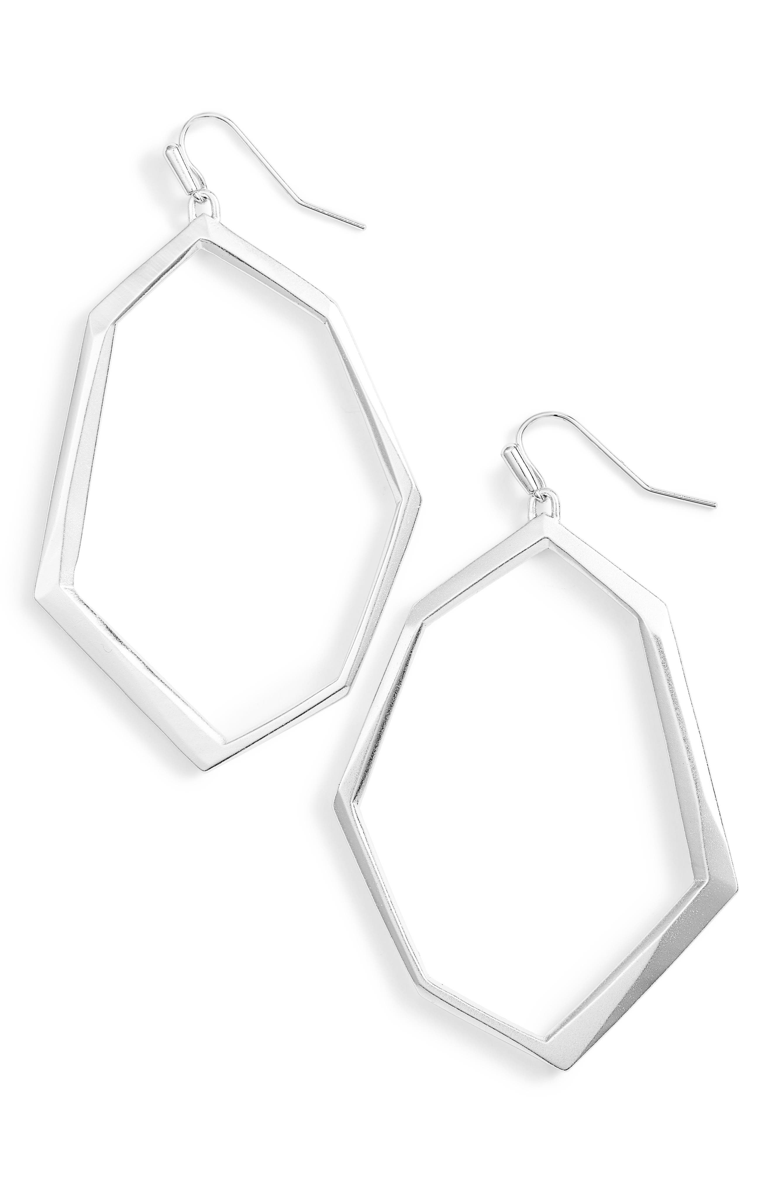 Lindsey Drop Earring,                         Main,                         color, Silver
