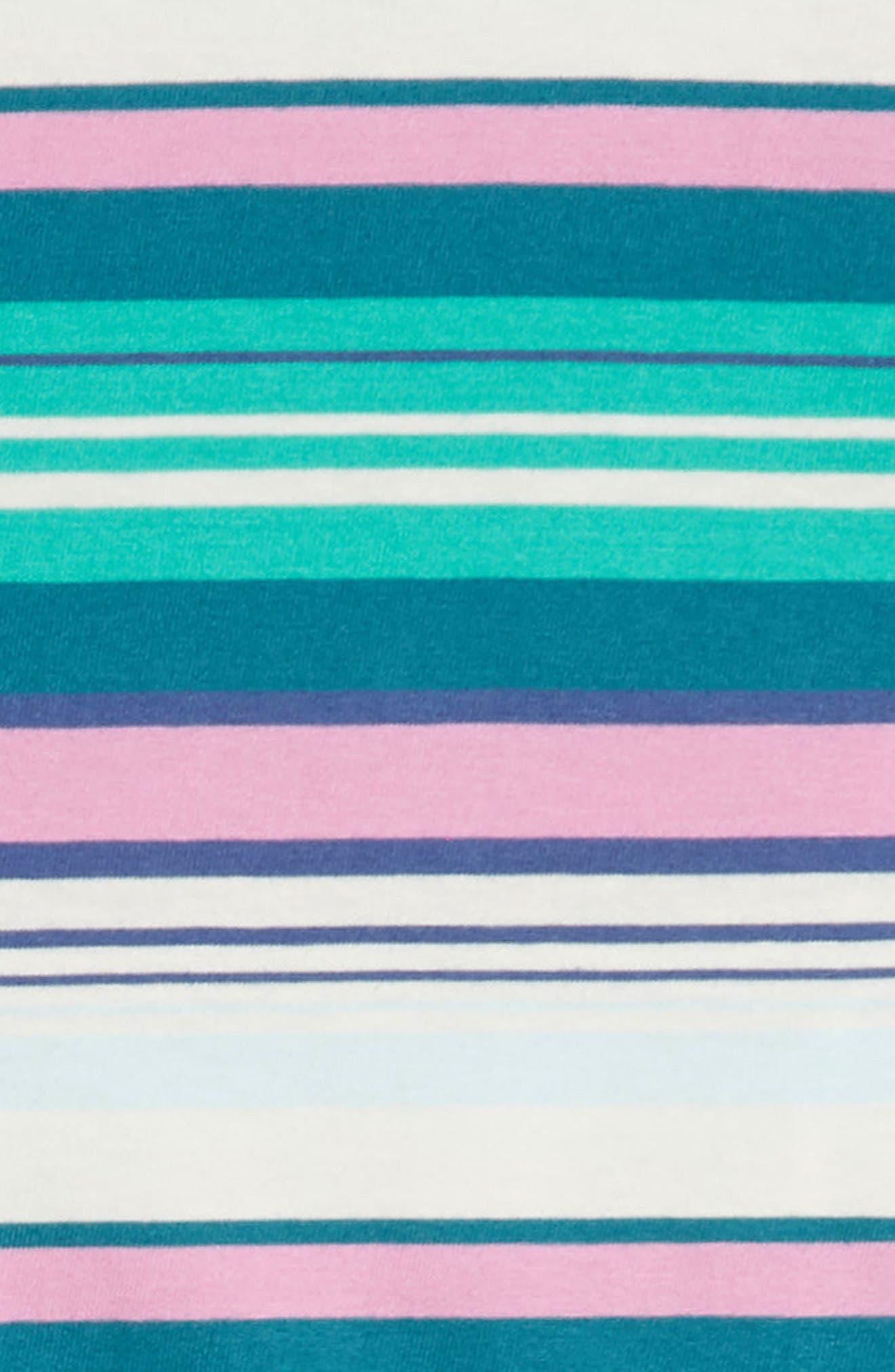 Vibrant Stripe Dress,                             Alternate thumbnail 3, color,                             Scuba