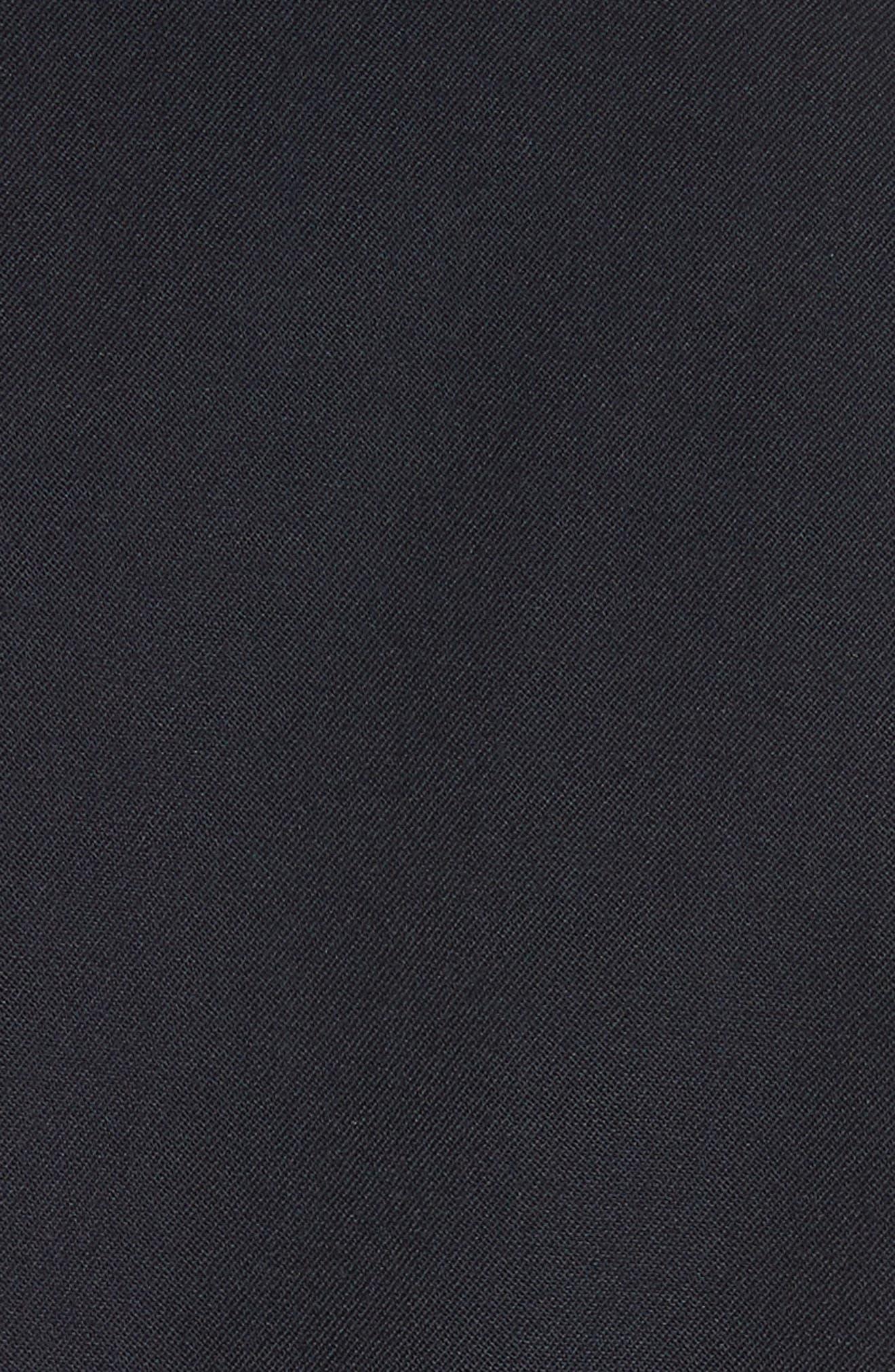 Uneven Hem Blazer,                             Alternate thumbnail 6, color,                             Navy