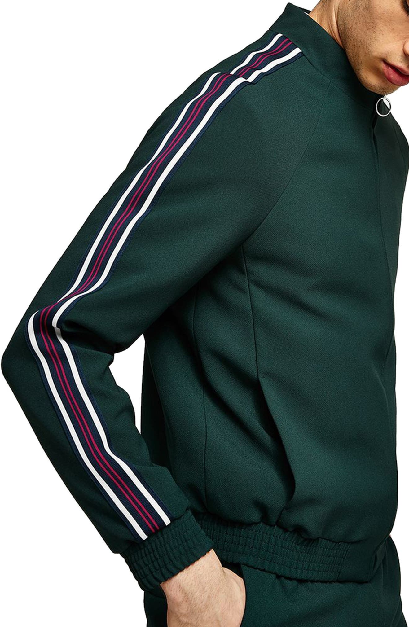 Track Jacket,                             Alternate thumbnail 3, color,                             Green Multi