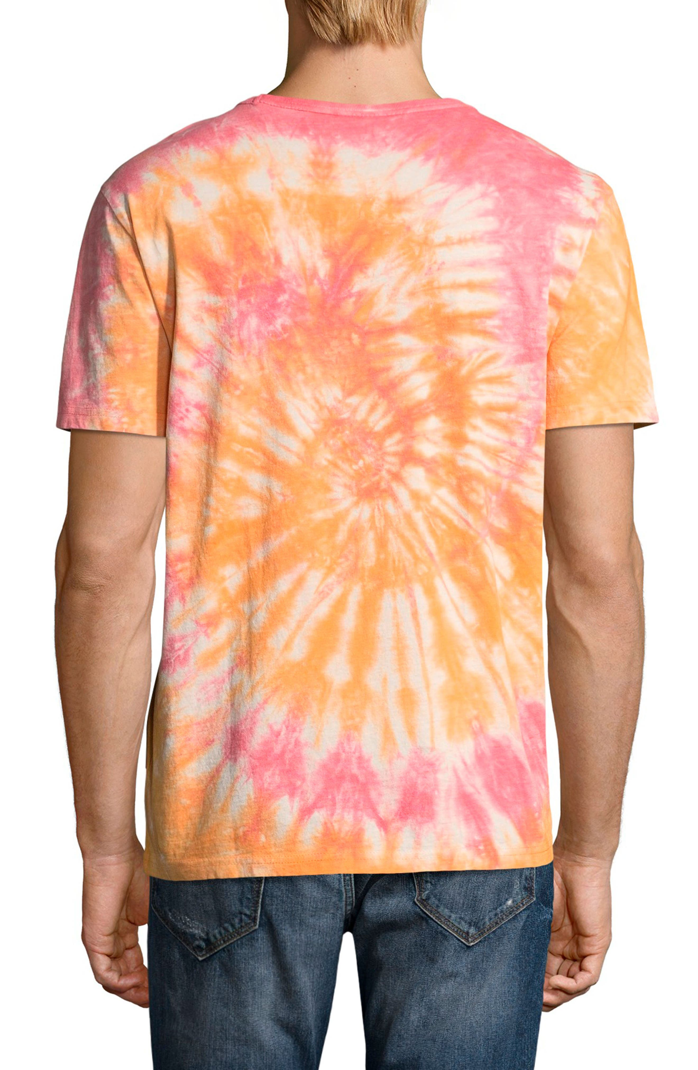 Tie Dye Jersey T-Shirt,                             Alternate thumbnail 2, color,                             Glazed Orange