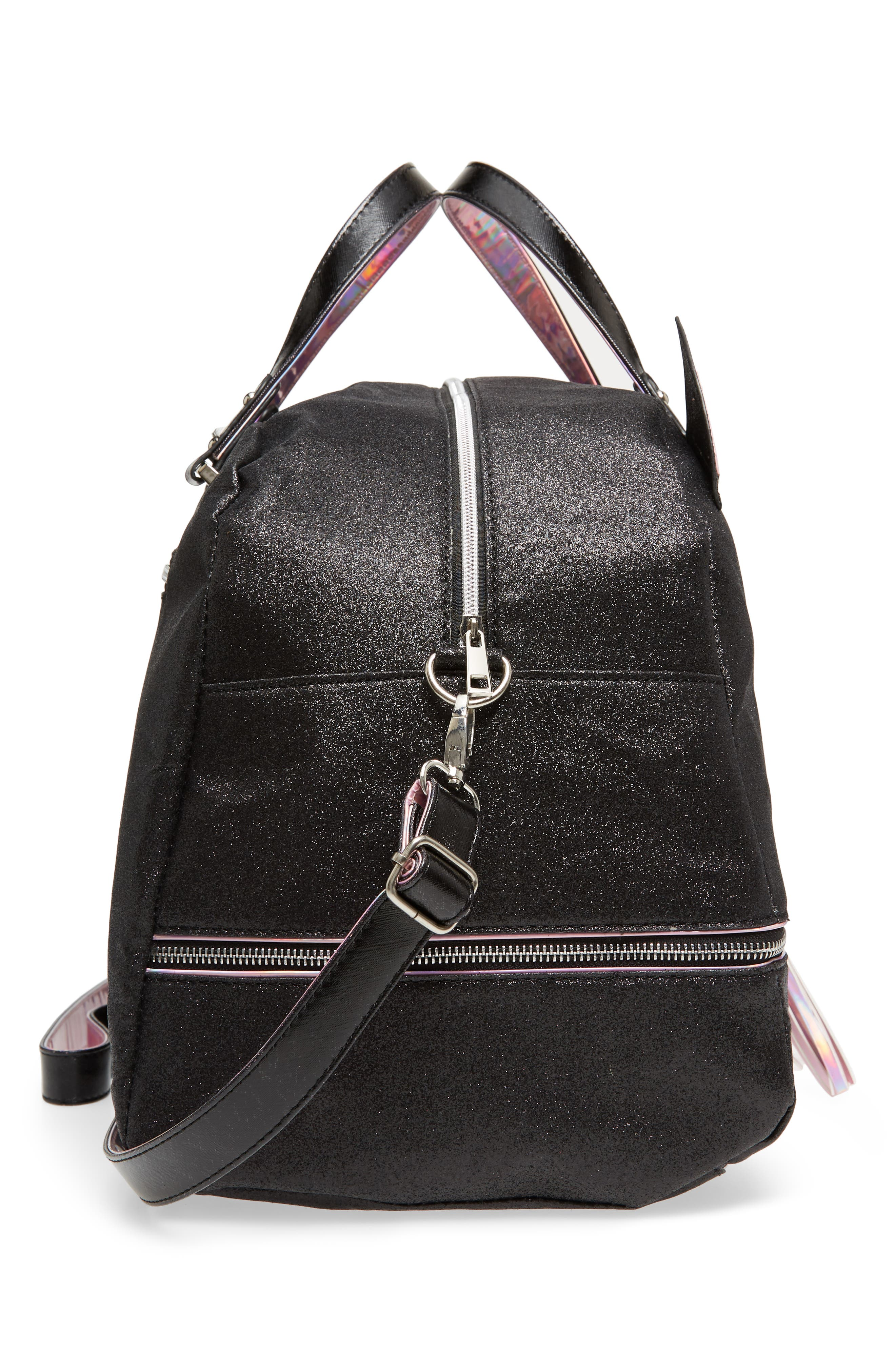 Duffel Bag,                             Alternate thumbnail 3, color,                             Black Kitty