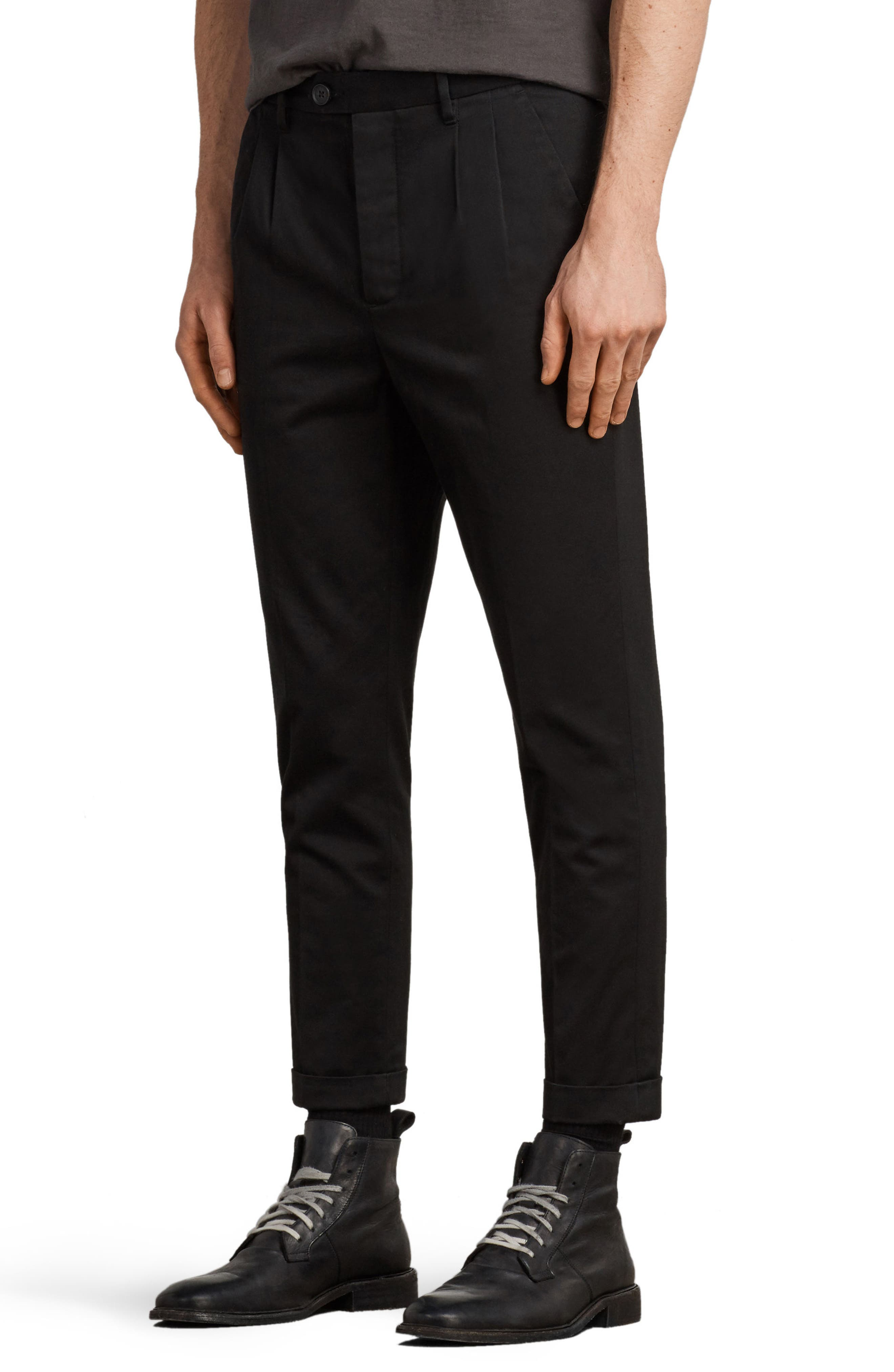 Salco Slim Fit Chino Pants,                             Alternate thumbnail 3, color,                             Black