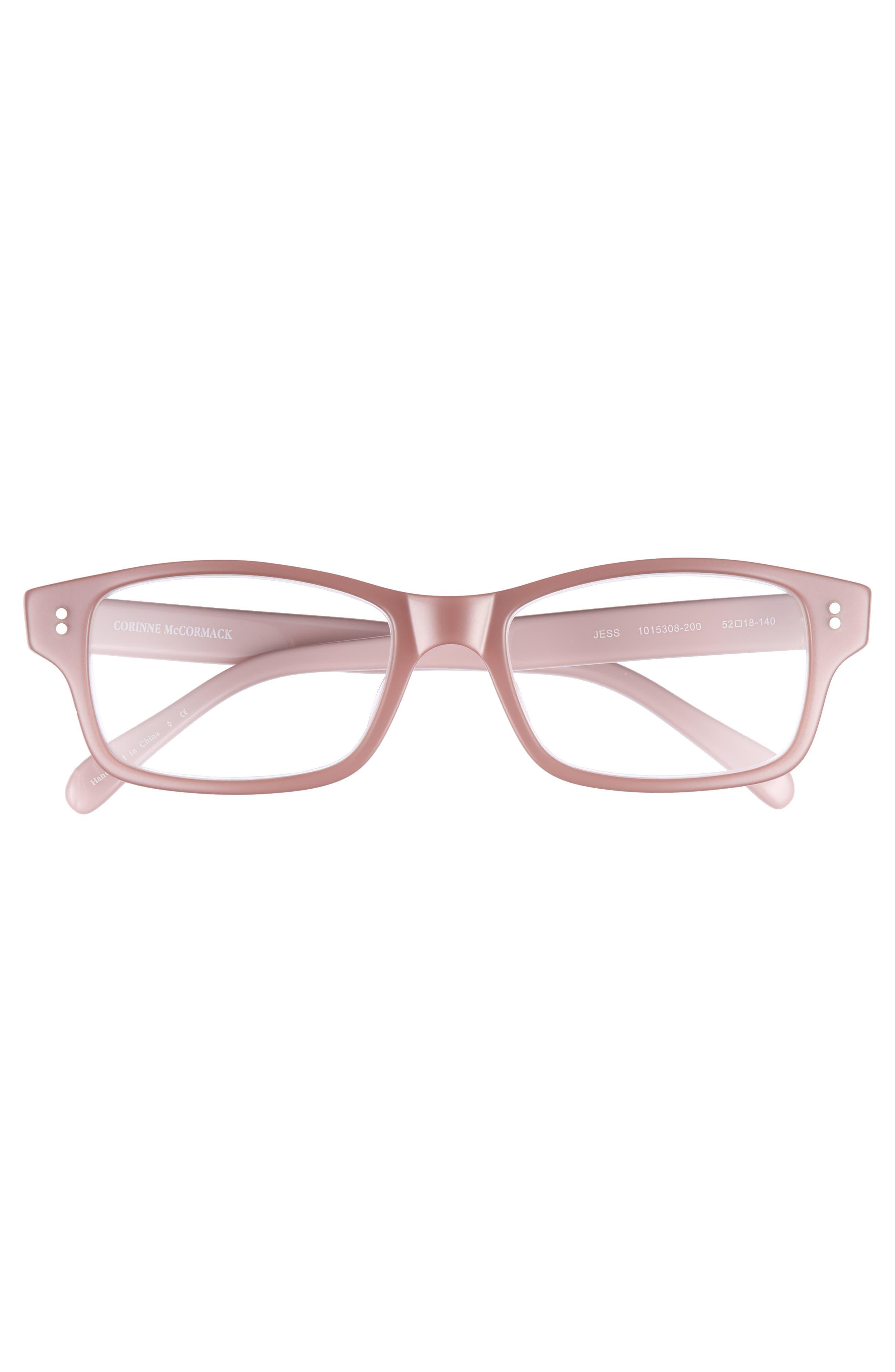 'Jess' 52mm Reading Glasses,                             Alternate thumbnail 3, color,                             Pink