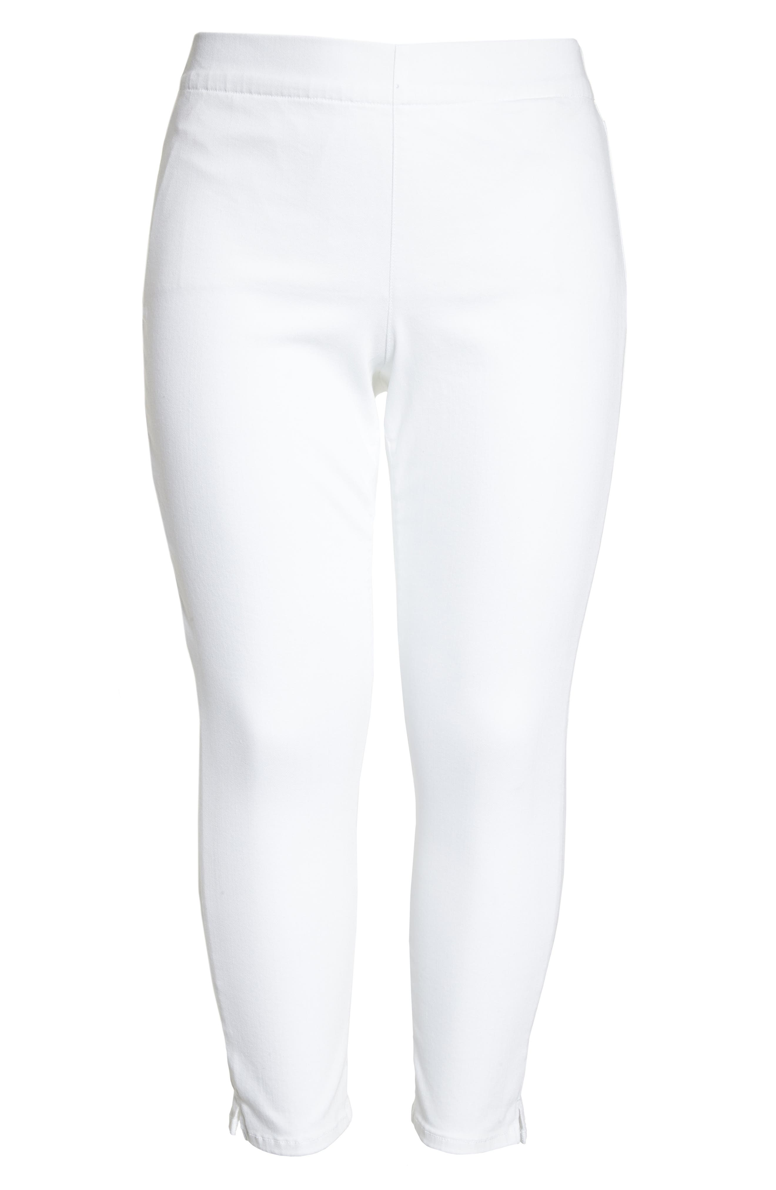 Alternate Image 6  - NYDJ Alina Pull-On Ankle Skinny Jeans (Endless White) (Plus Size)