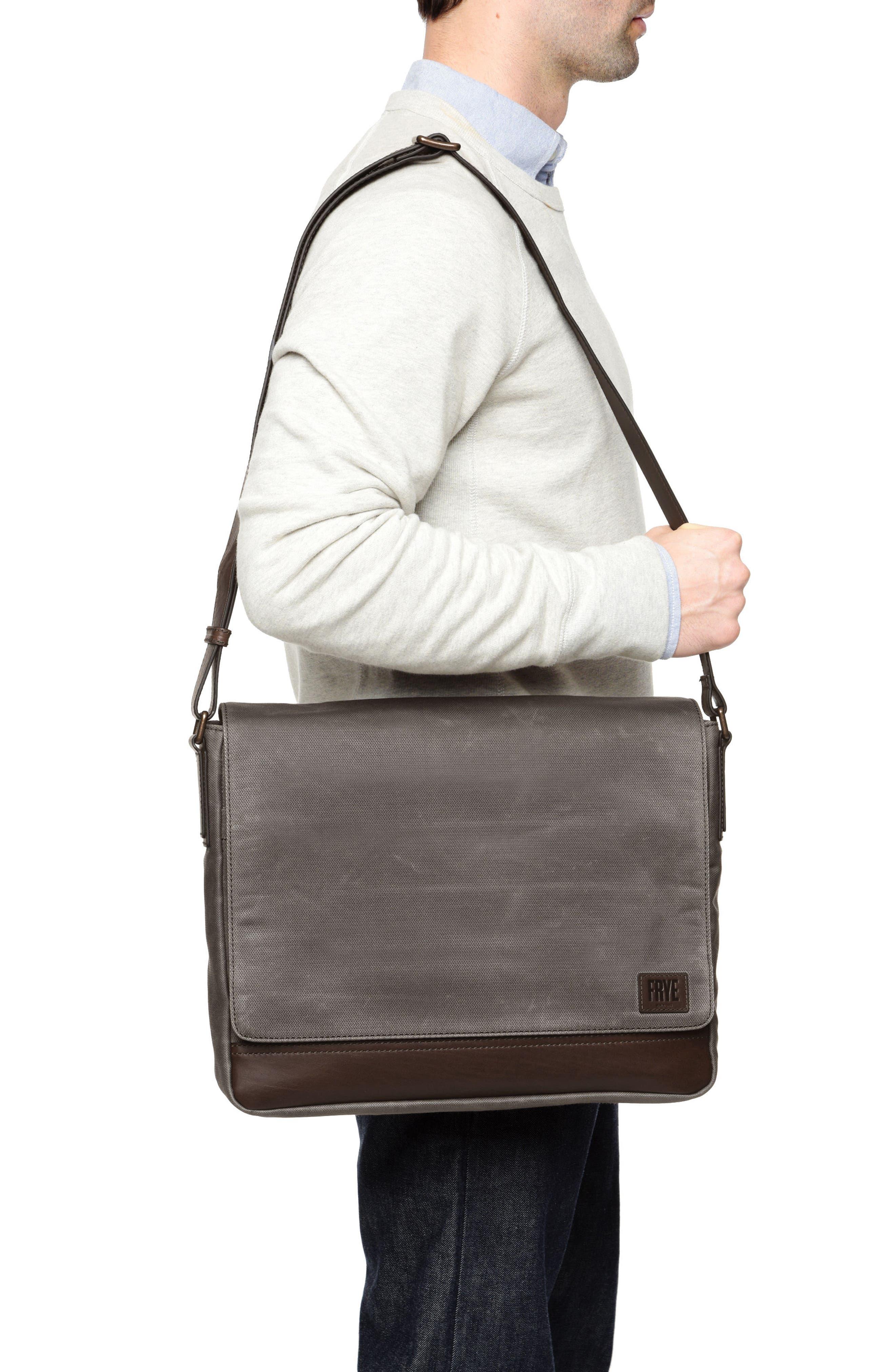 Frey Carter Messenger Bag,                             Alternate thumbnail 2, color,                             Slate