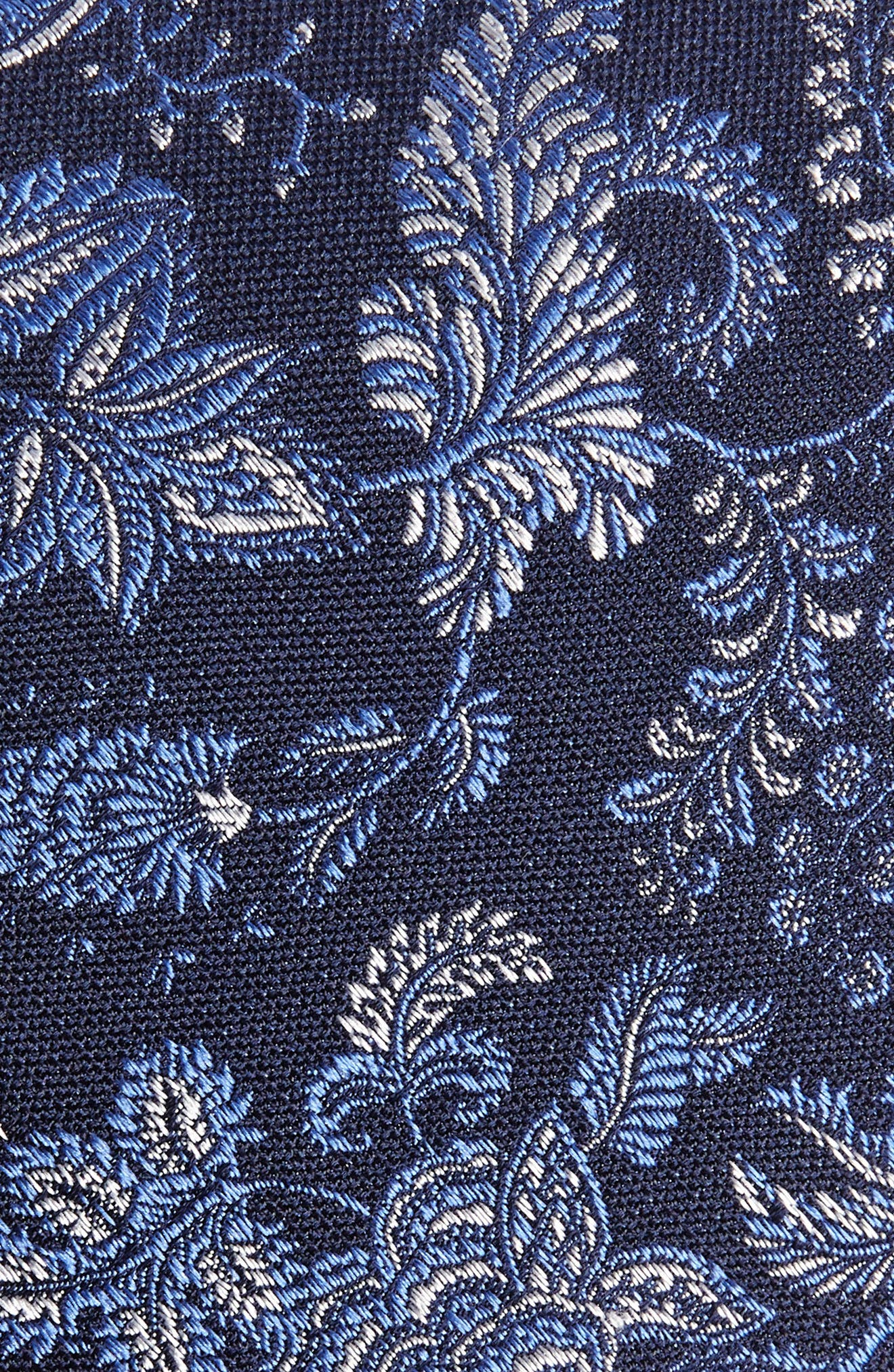 Trevis Floral Silk & Cotton Tie,                             Alternate thumbnail 2, color,                             Navy