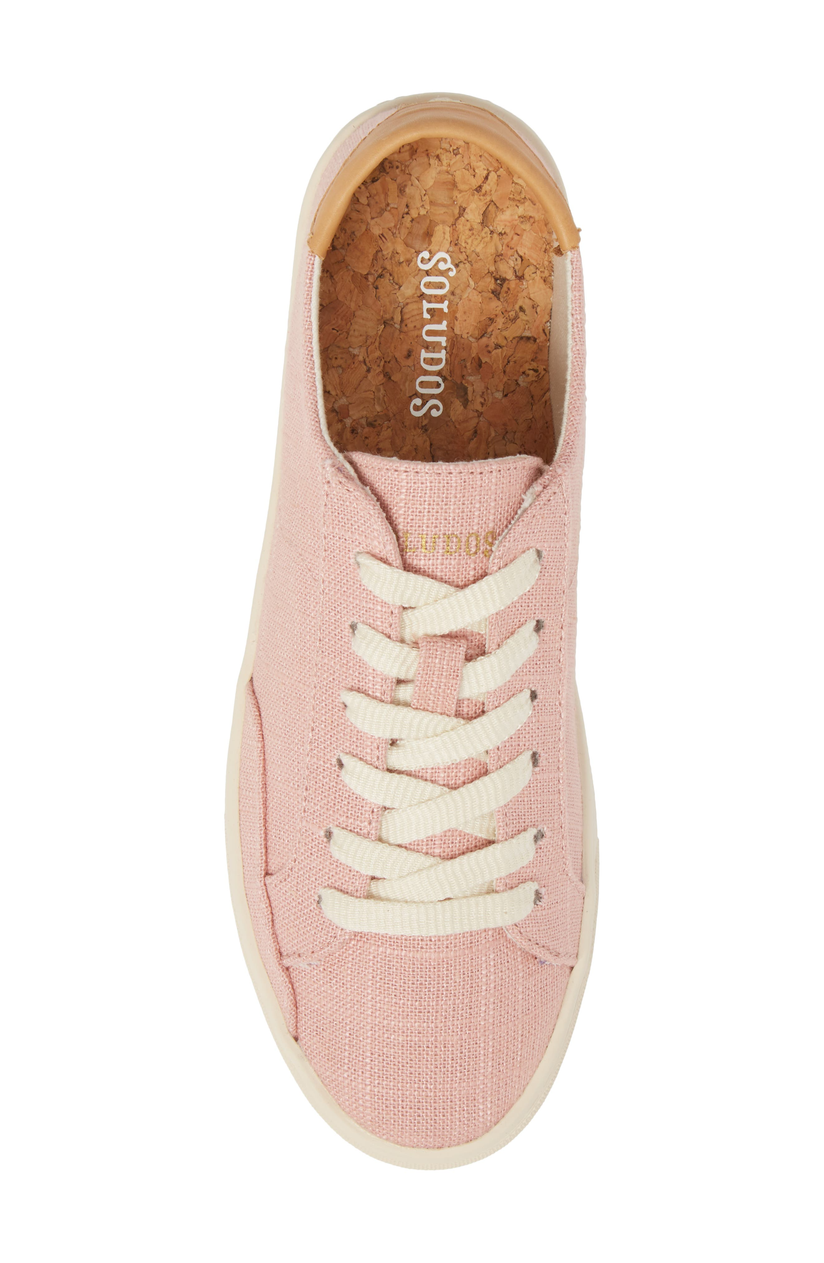 Ibiza Sneaker,                             Alternate thumbnail 5, color,                             Dusty Rose Fabric