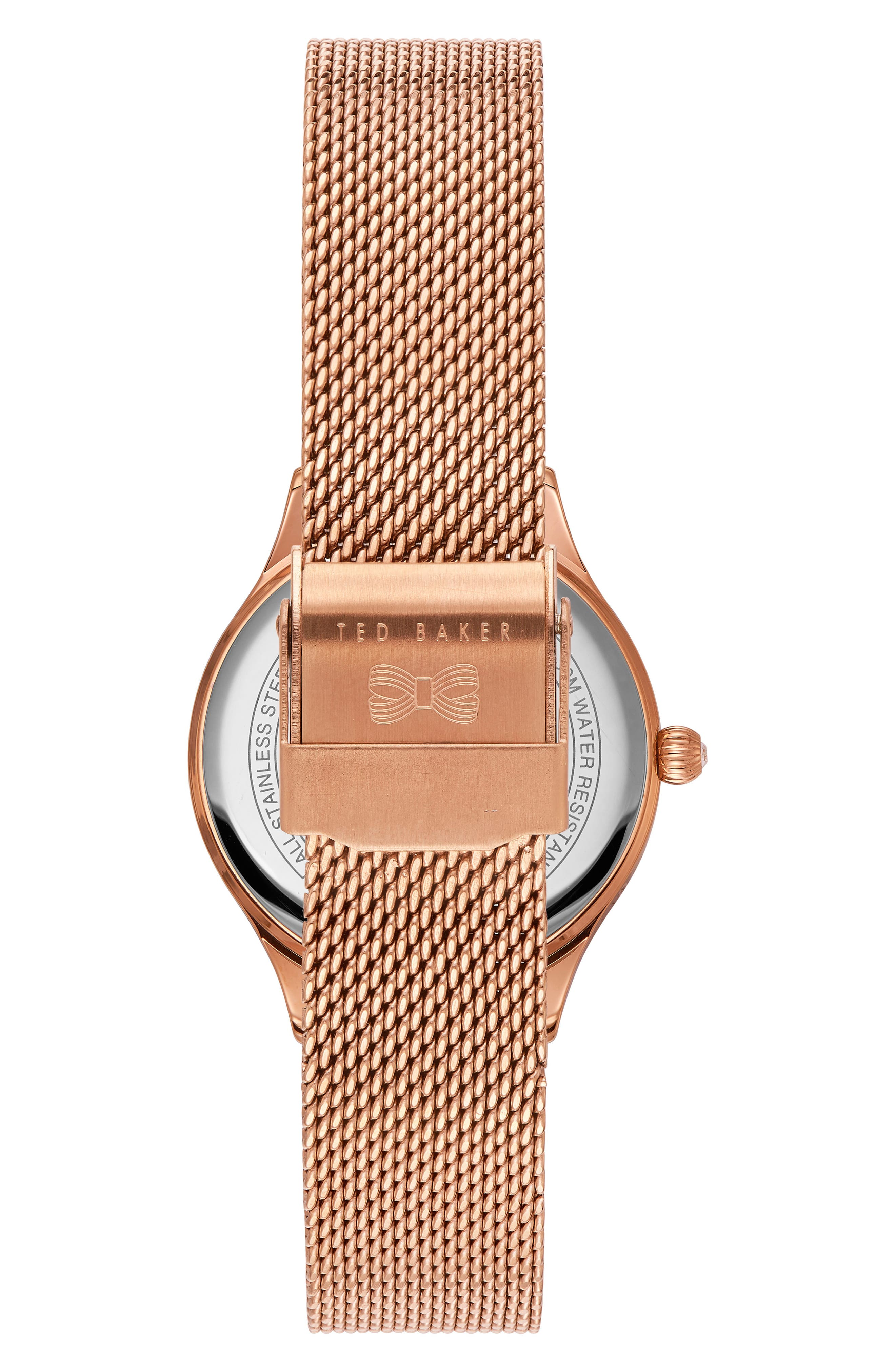 Zoe Mesh Strap Watch, 32mm,                             Alternate thumbnail 2, color,                             Rose Gold