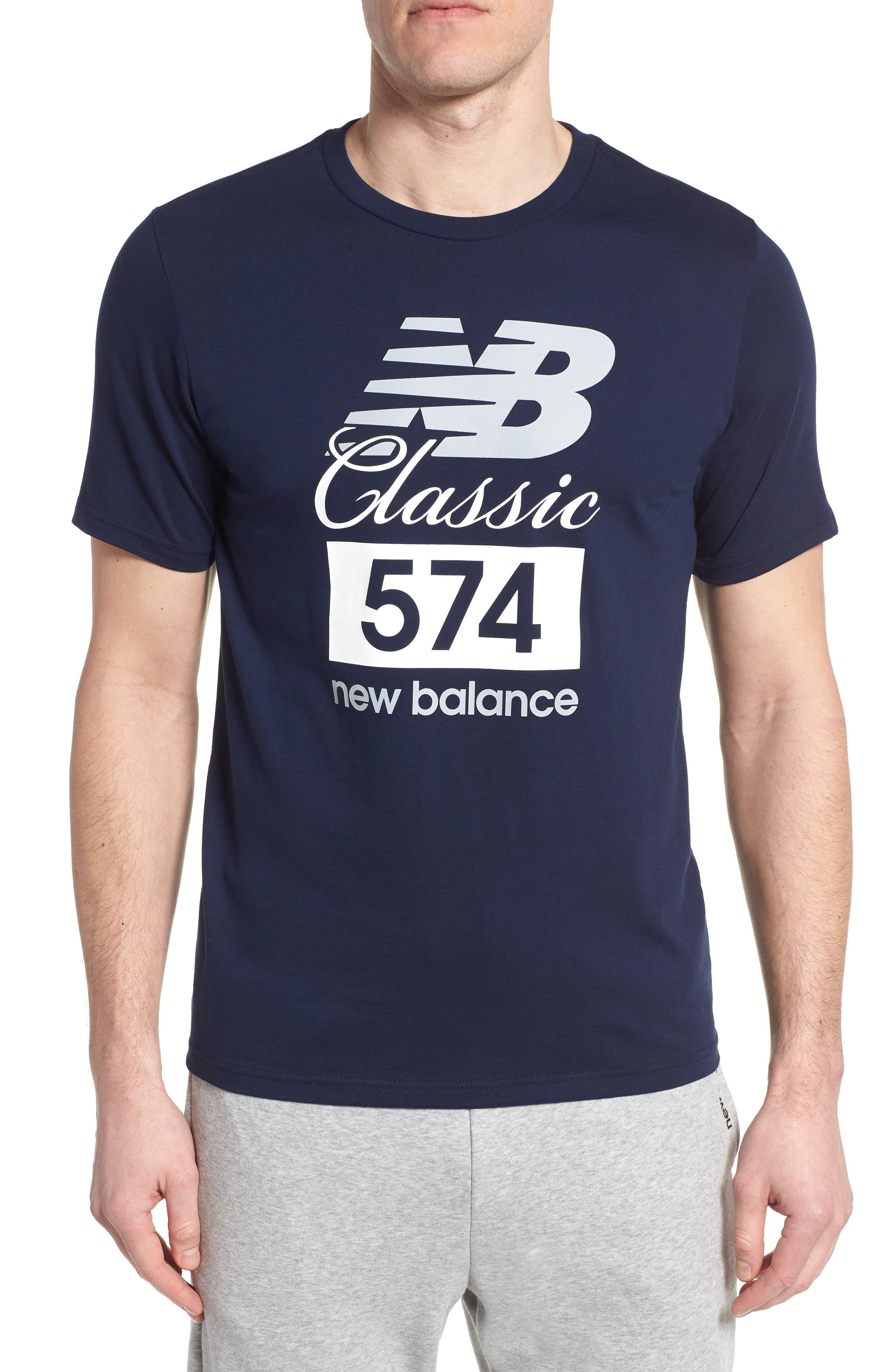 Athletics Classic 574 Crewneck T-Shirt,                         Main,                         color, Pigment