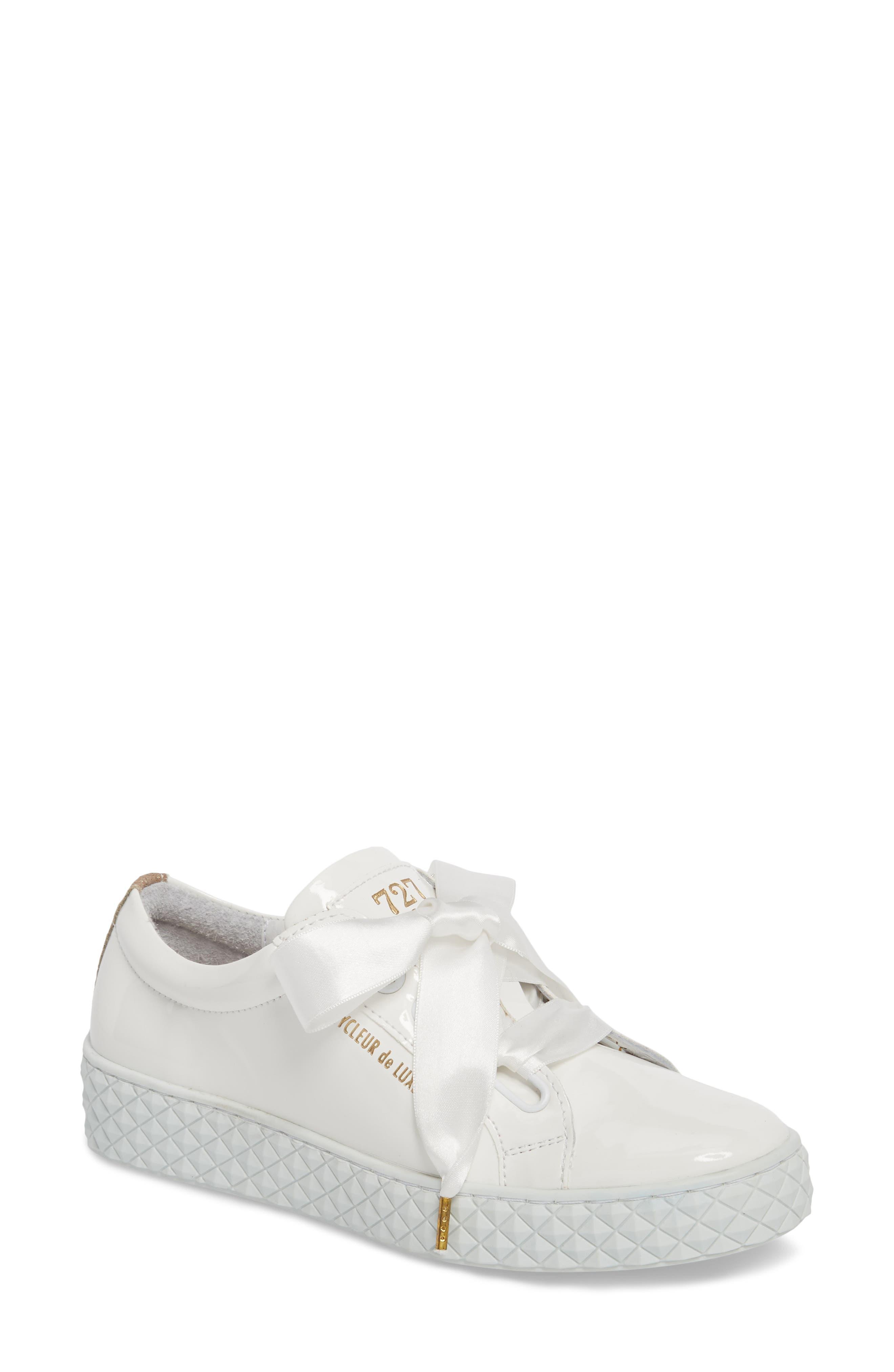 Acton Sneaker,                         Main,                         color, White Patent