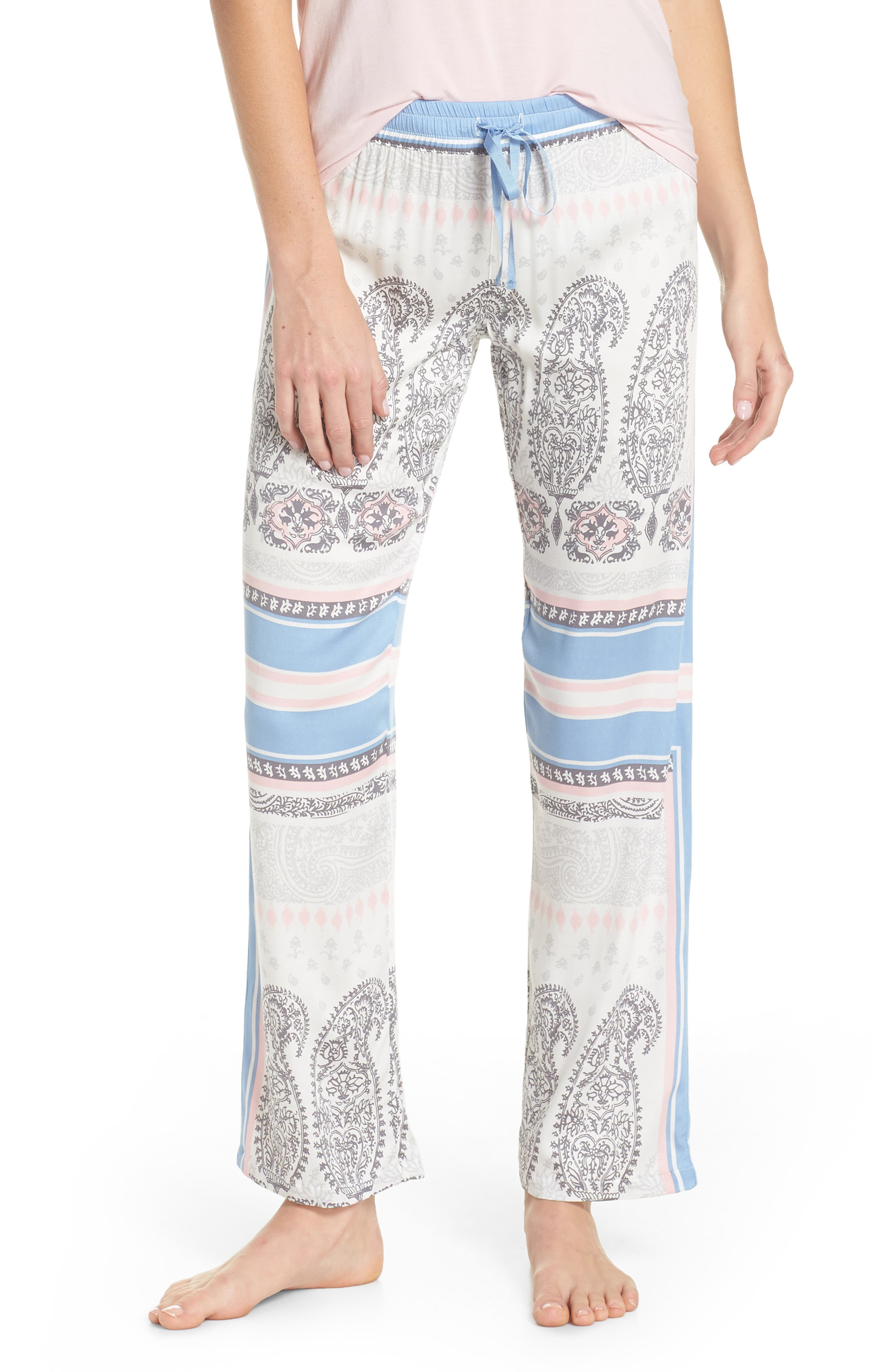 Pajama Pants,                         Main,                         color, Natural