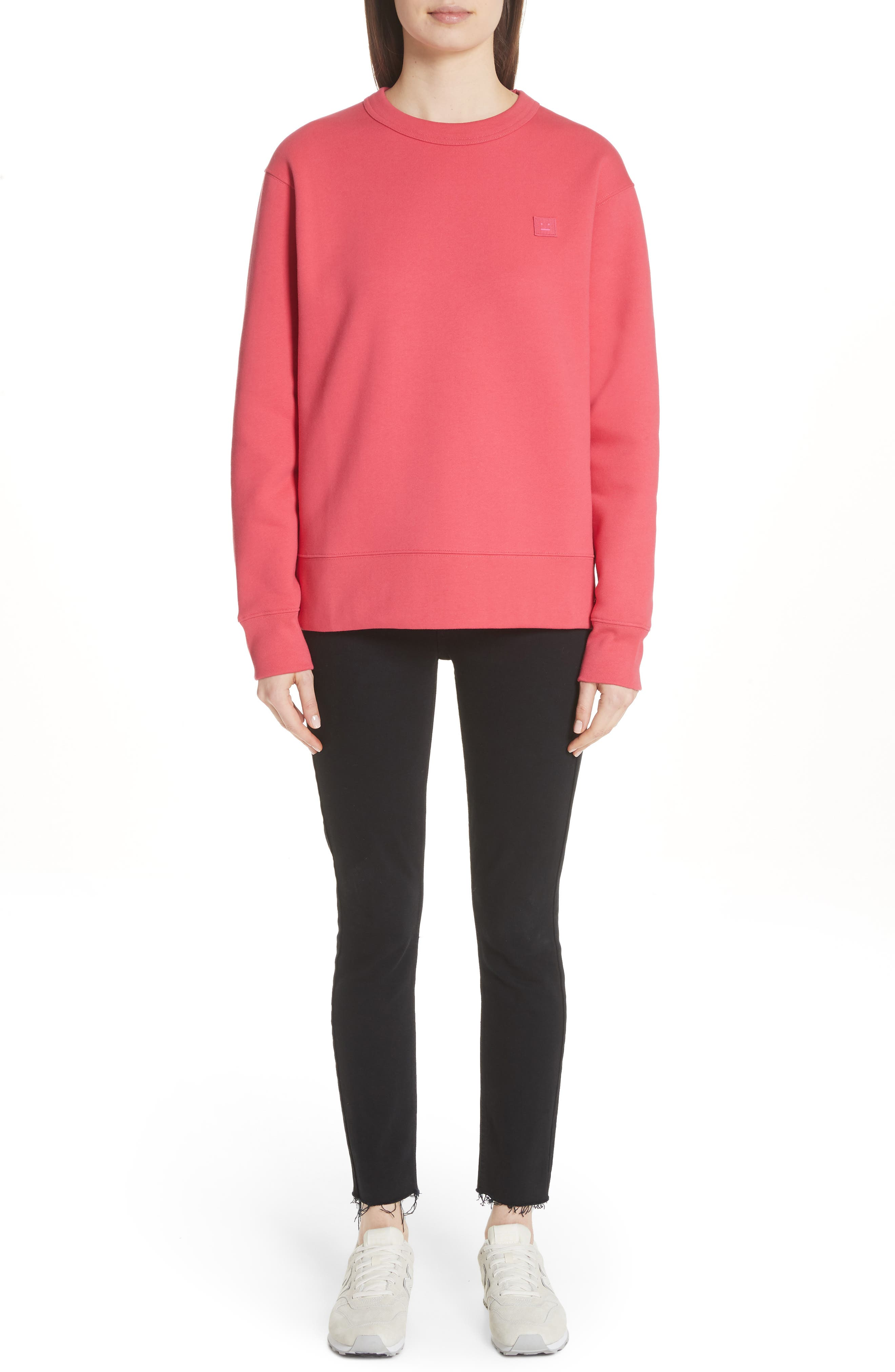 Fairview Crewneck Sweatshirt,                             Alternate thumbnail 8, color,                             Neon Pink