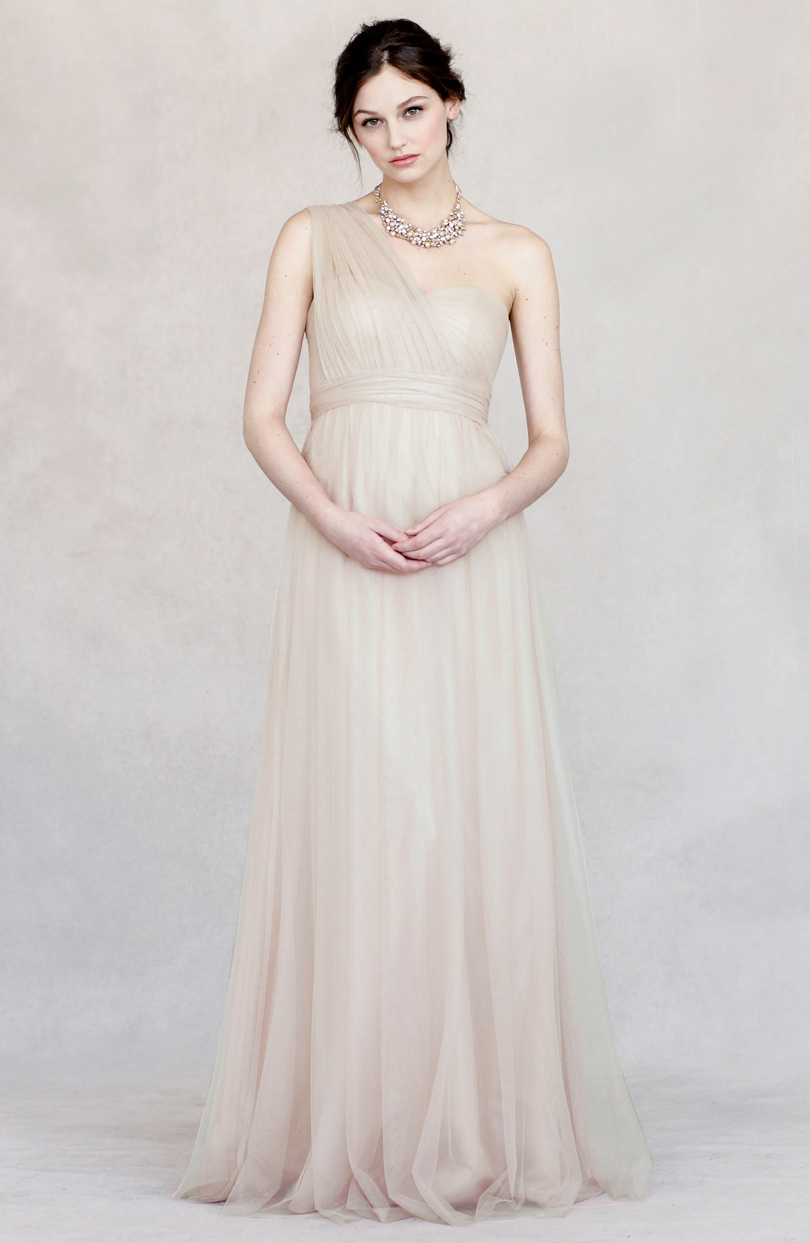 Alternate Image 2  - Jenny Yoo Annabelle Convertible Tulle Column Dress