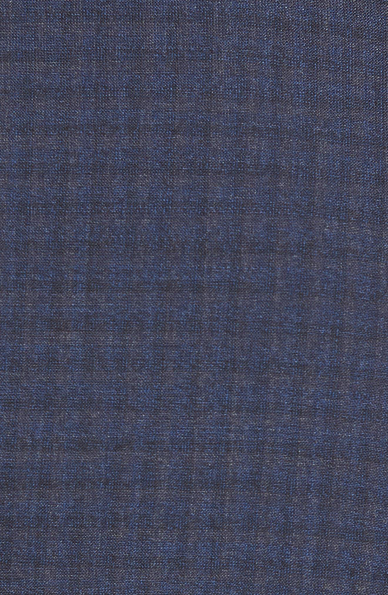 Huge/Genius Trim Fit Check Wool Suit,                             Alternate thumbnail 7, color,                             Blue/ Brown/ Charcoal