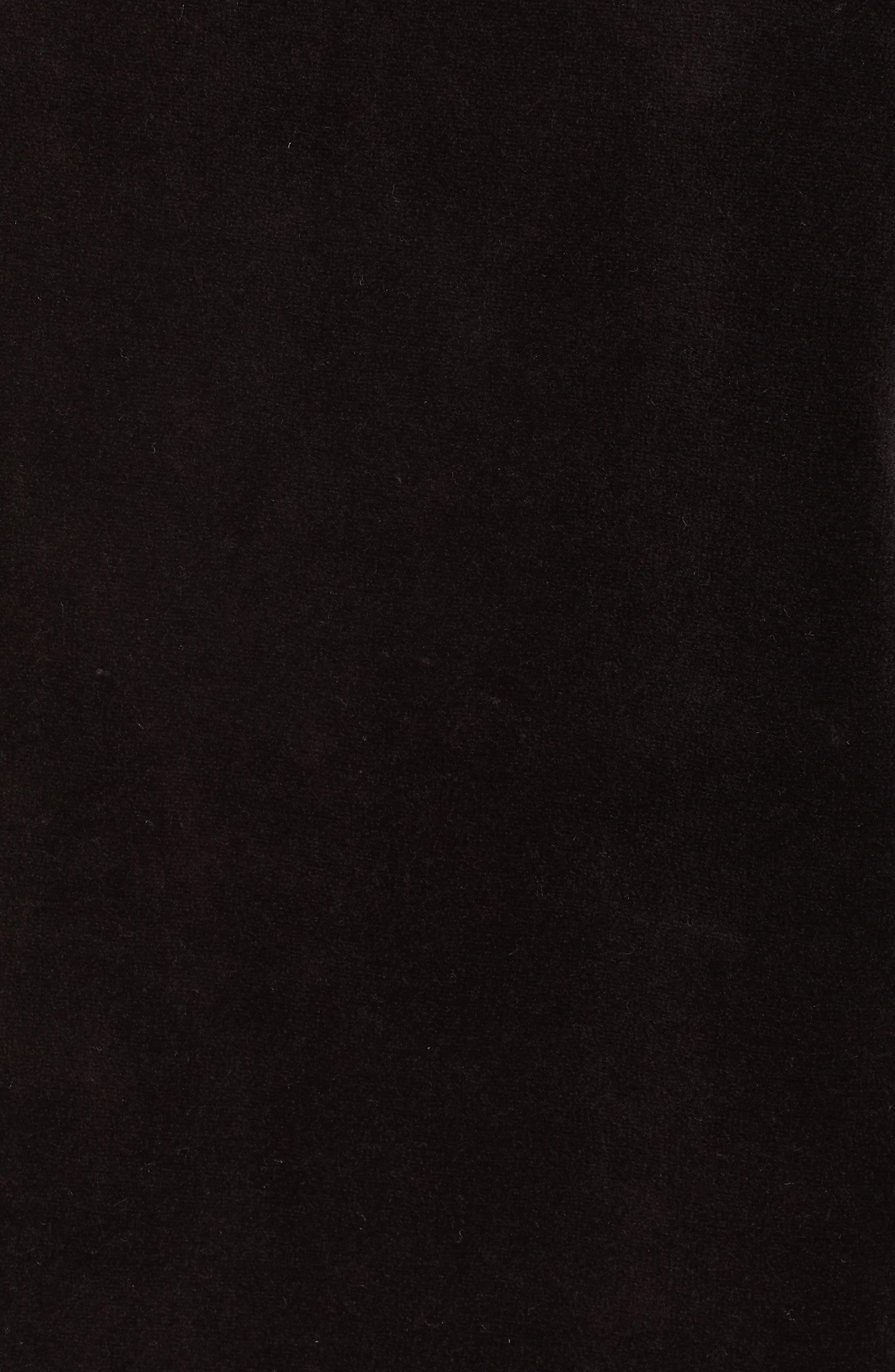 Logo Graphic Velour Pullover,                             Alternate thumbnail 6, color,                             Pitch Black