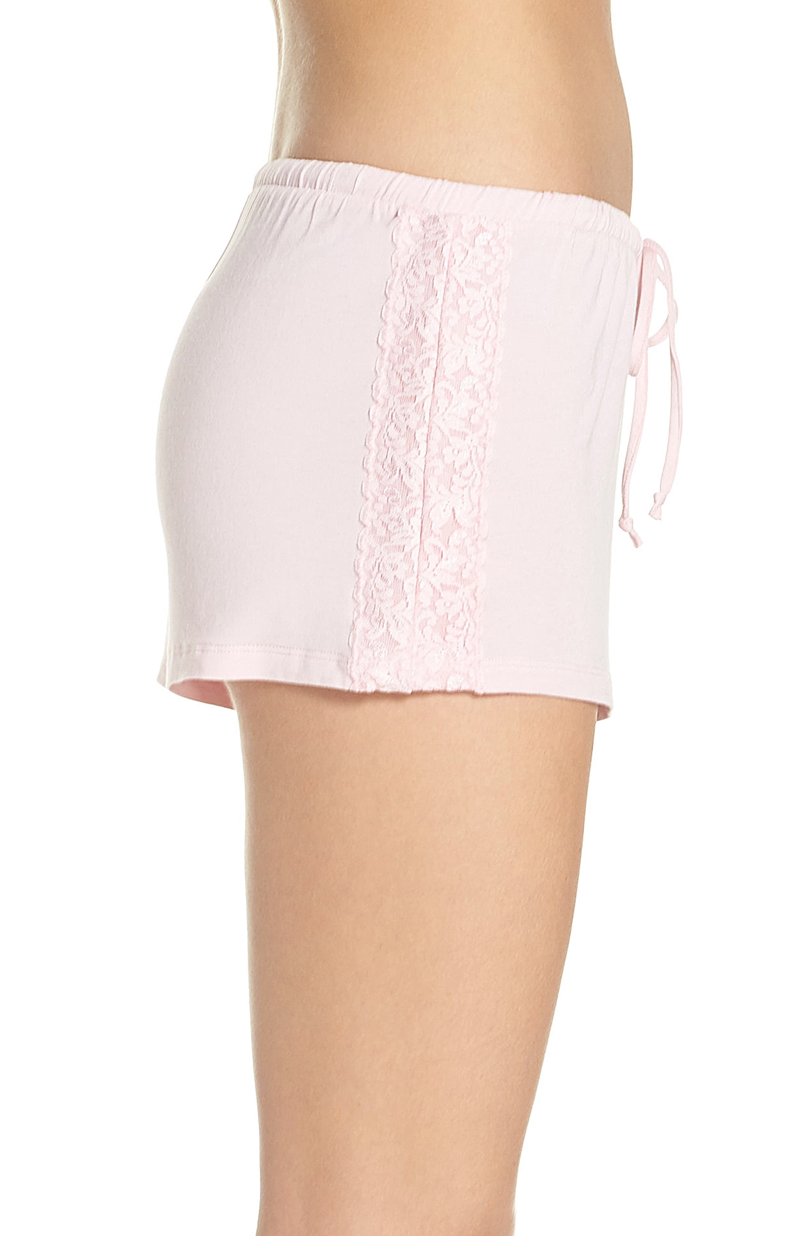 Pajama Shorts,                             Alternate thumbnail 3, color,                             Pink