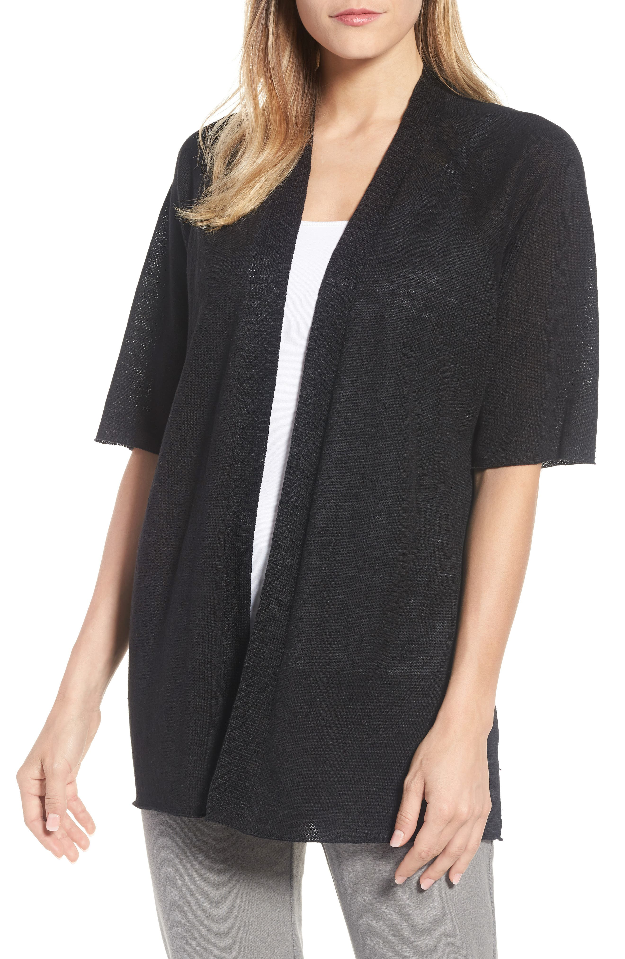 Eileen Fisher Organic Linen Cardigan (Regular & Petite)