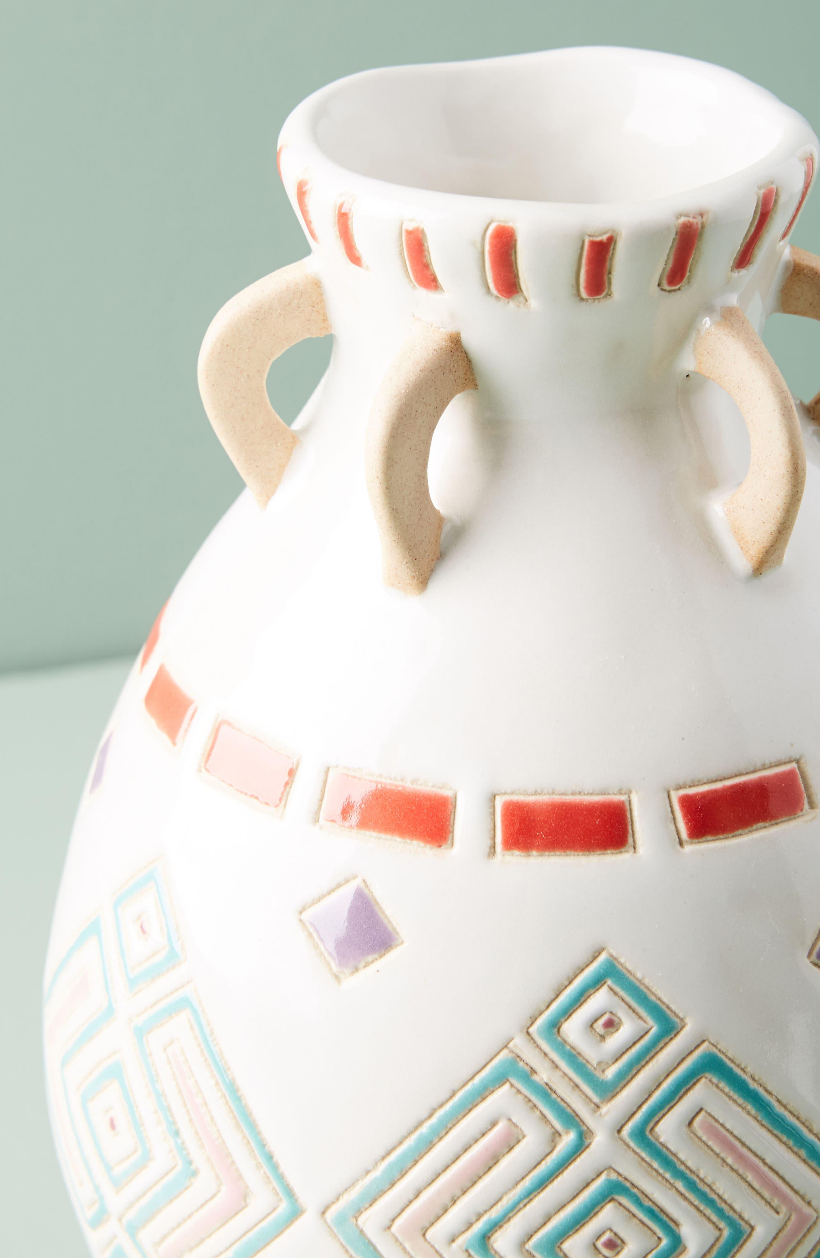 Petra Vase,                             Alternate thumbnail 2, color,                             Black Combo