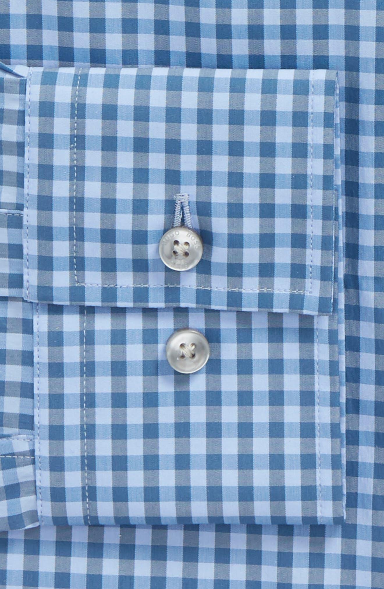 Jenno Slim Fit Check Stretch Dress Shirt,                             Alternate thumbnail 2, color,                             Blue
