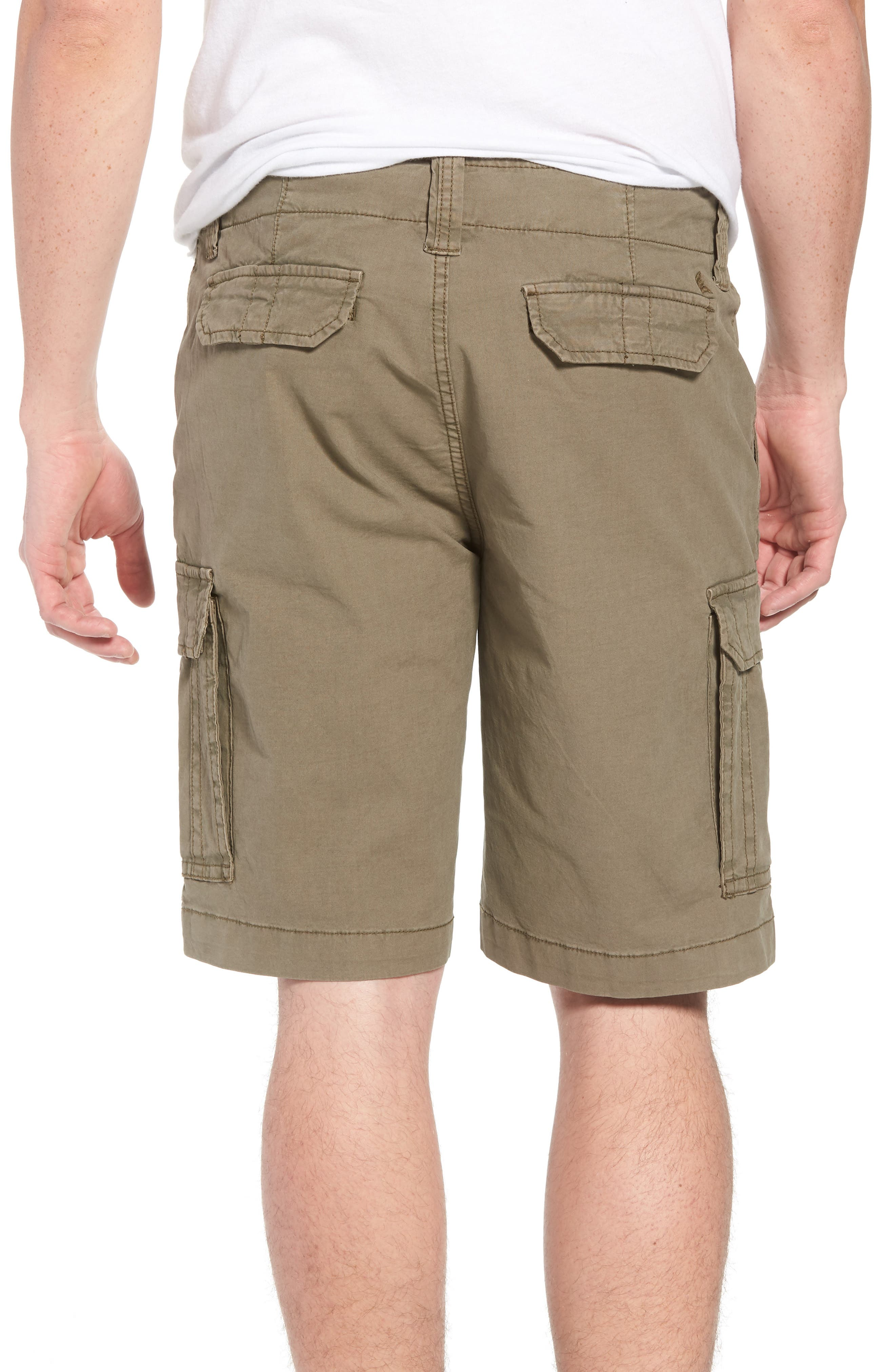 Stretch Canvas Cargo Shorts,                             Alternate thumbnail 2, color,                             Army