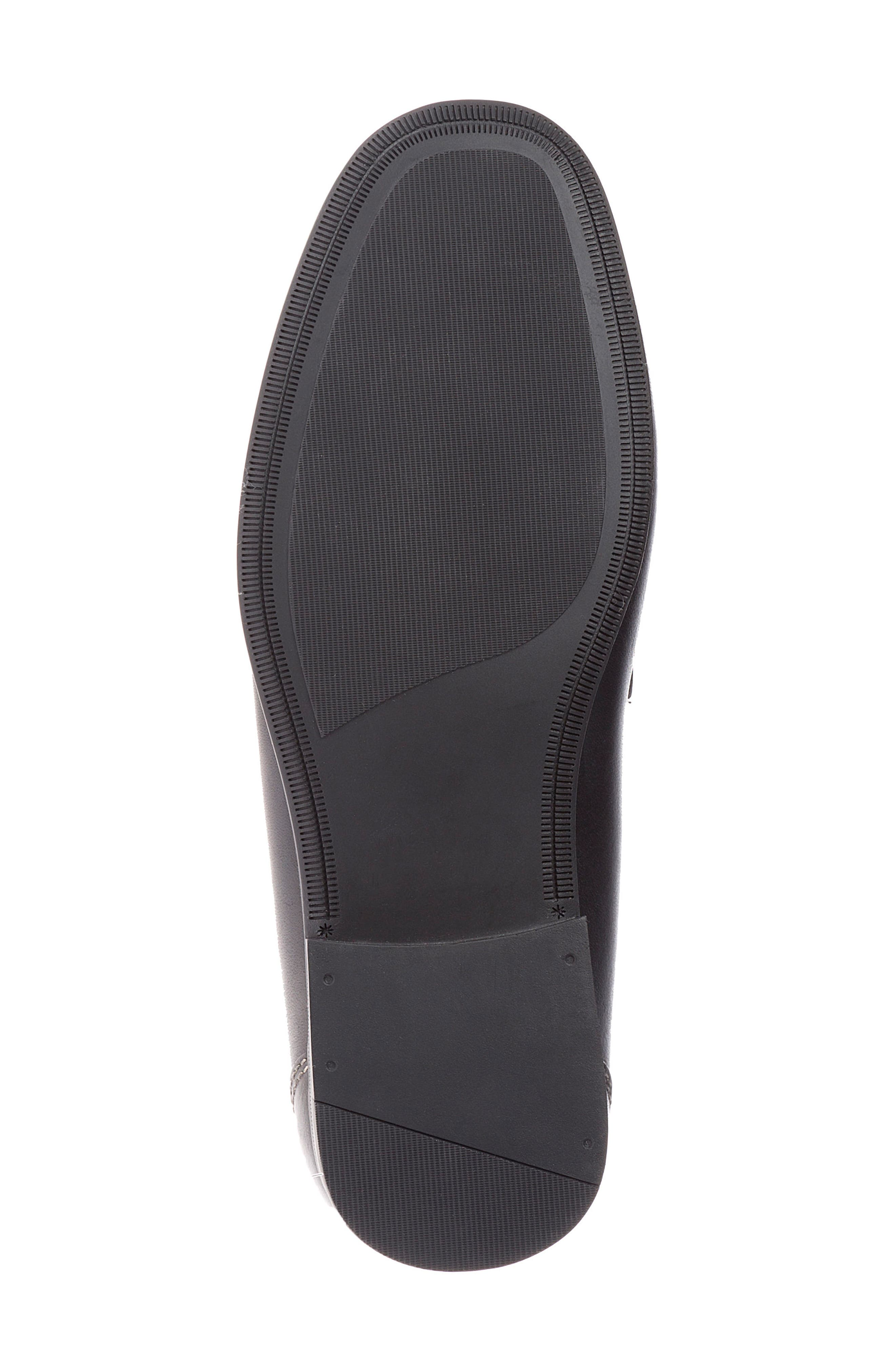 Abruzo Cross Strap Loafer,                             Alternate thumbnail 6, color,                             Black