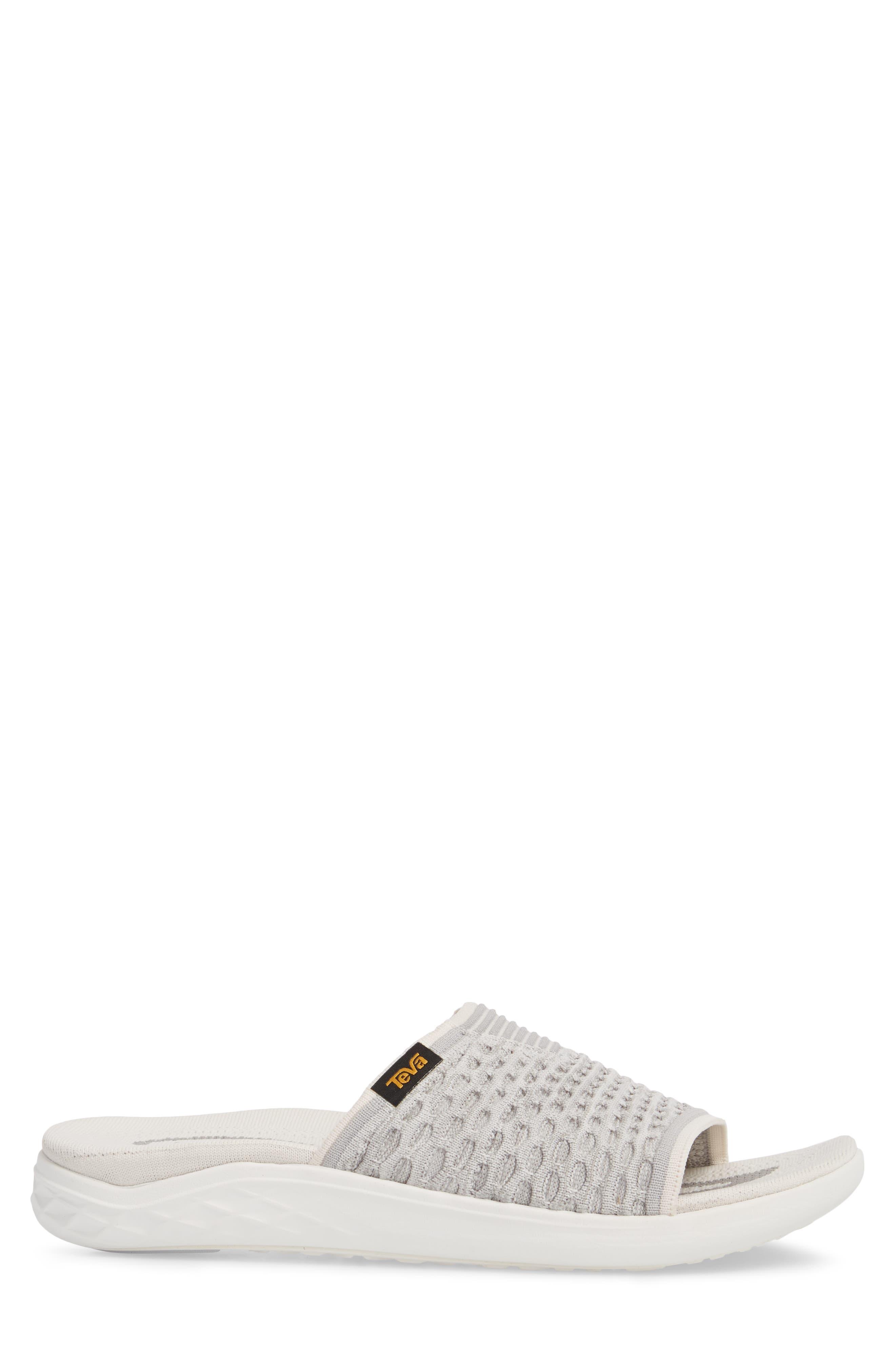 Terra-Float 2 Knit Slide Sandal,                             Alternate thumbnail 3, color,                             Bright White