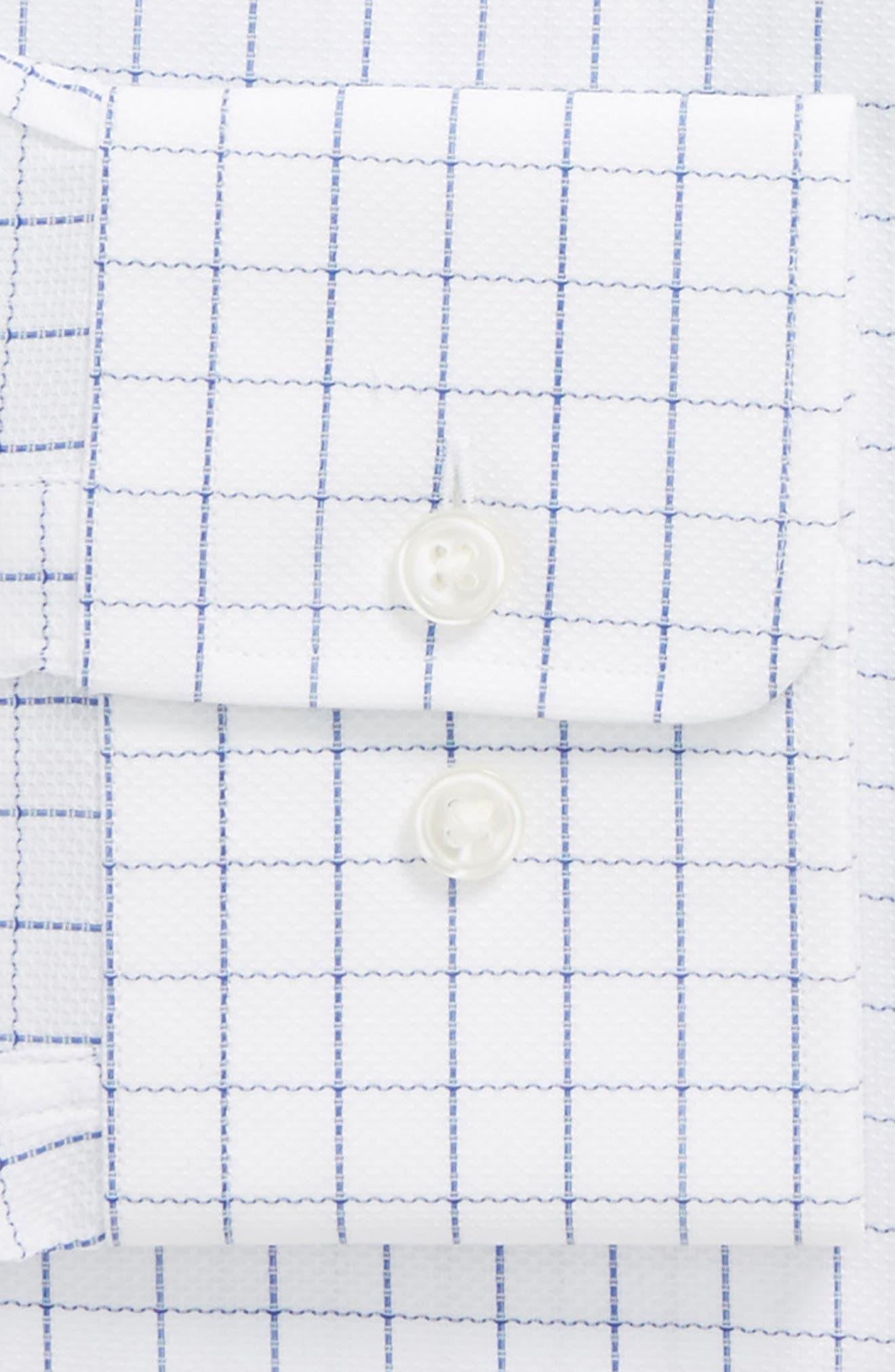 Mark Sharp Fit Check Dress Shirt,                             Alternate thumbnail 2, color,                             White/ Blue
