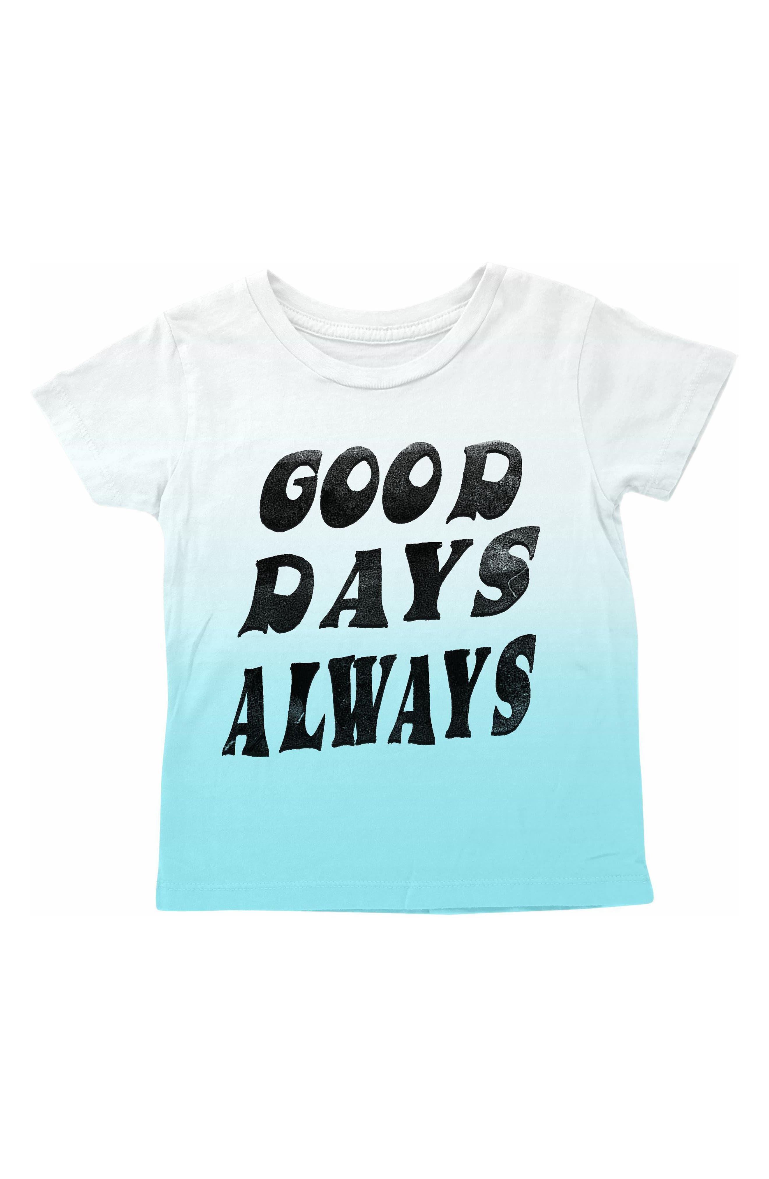 Good Days Always Dip Dye T-Shirt,                             Main thumbnail 1, color,                             Blue Dip Dye