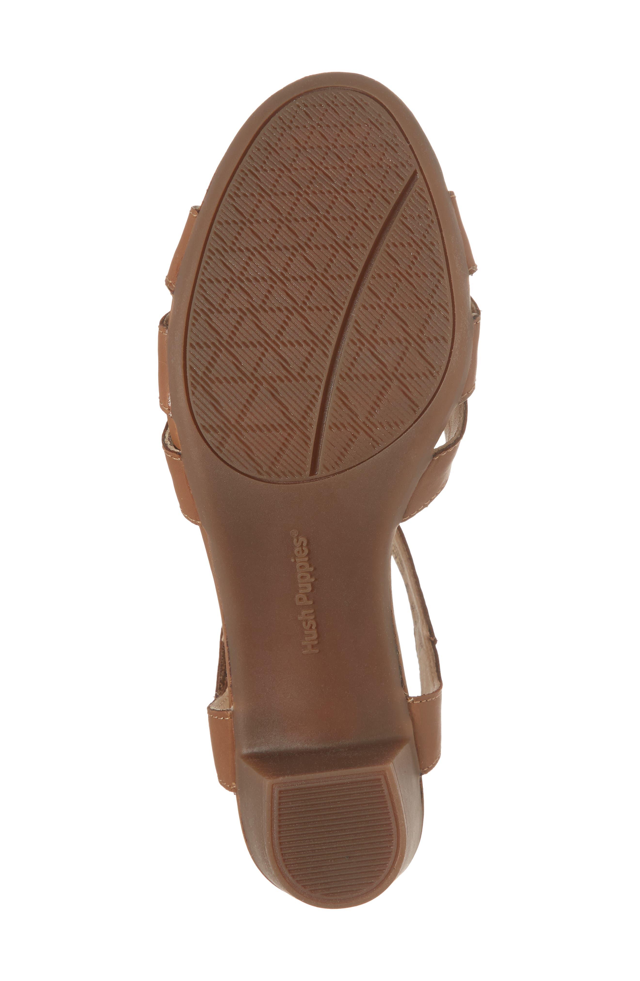 Masseter Quarter Strap Sandal,                             Alternate thumbnail 6, color,                             Tan Leather