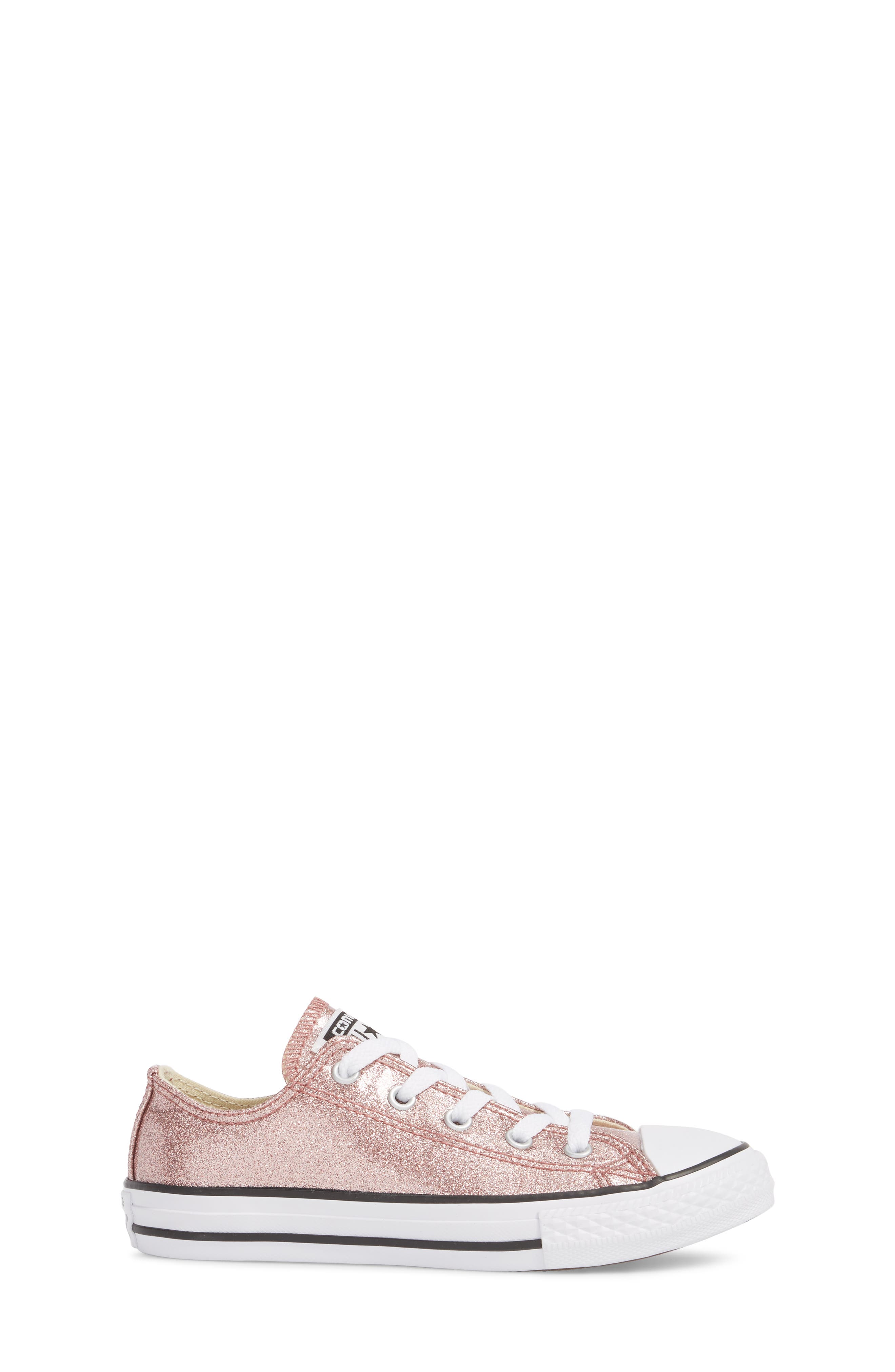 Chuck Taylor<sup>®</sup> All Star<sup>®</sup> Glitter Slip-On,                             Alternate thumbnail 3, color,                             Rose Gold