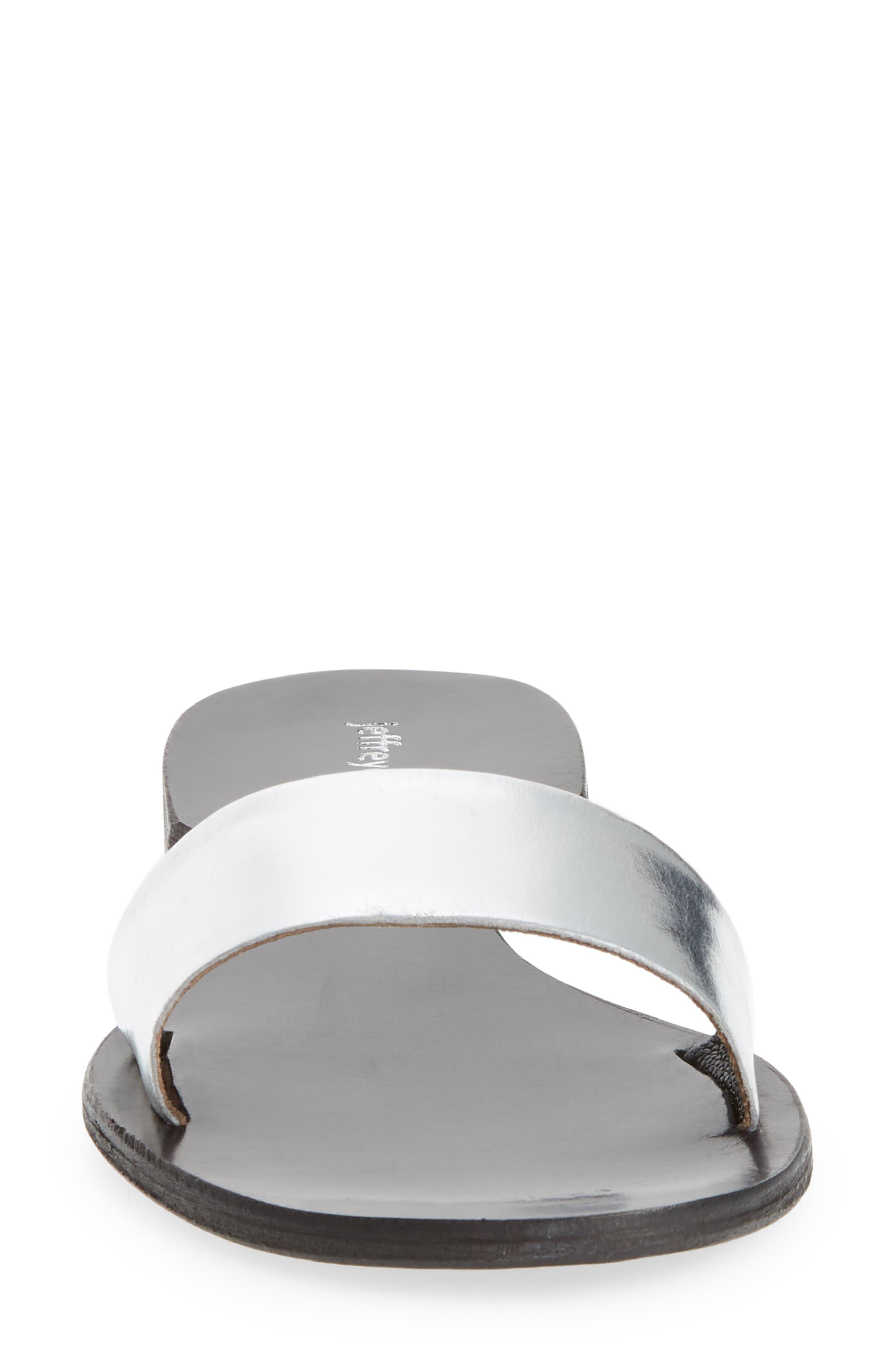 Monzon Slide Sandal,                             Alternate thumbnail 4, color,                             Silver Mirror