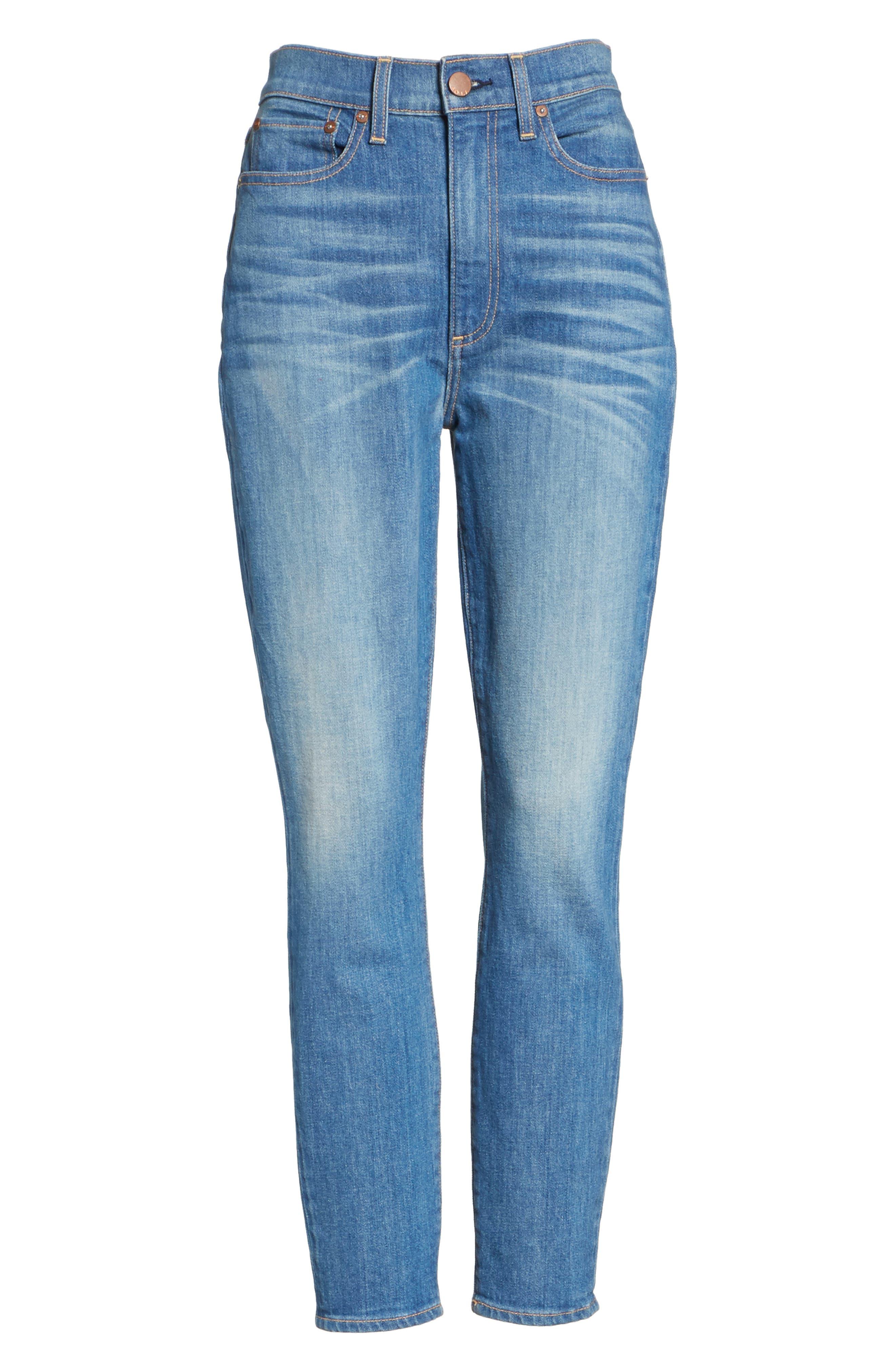 AO.LA Good High Waist Ankle Skinny Jeans,                             Alternate thumbnail 6, color,                             Side Hustle