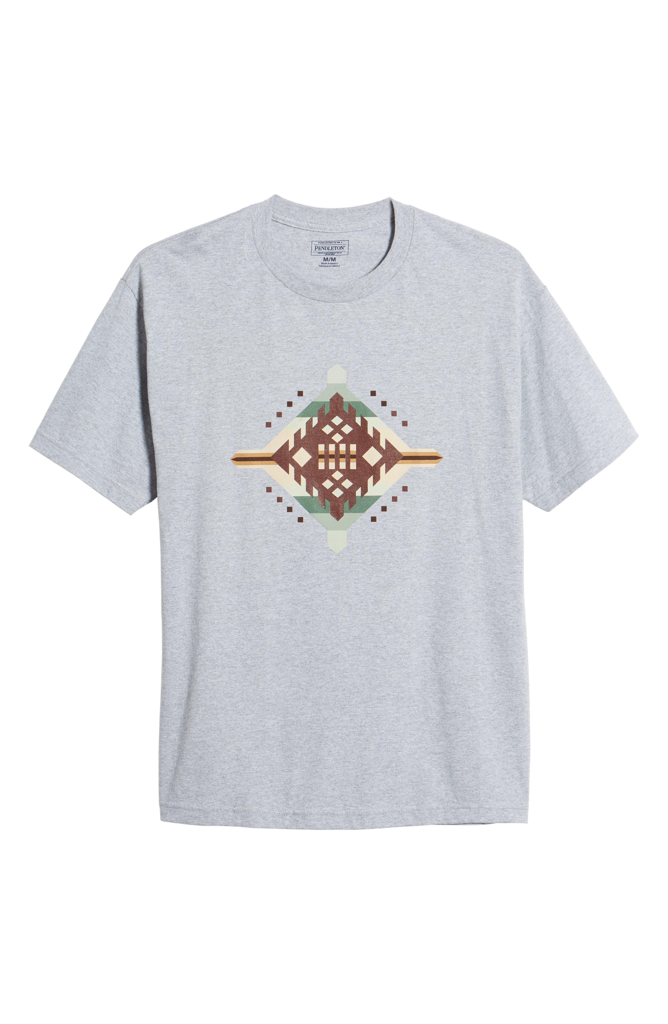Crewneck T-Shirt,                             Alternate thumbnail 6, color,                             Gray Mesquite Canyon