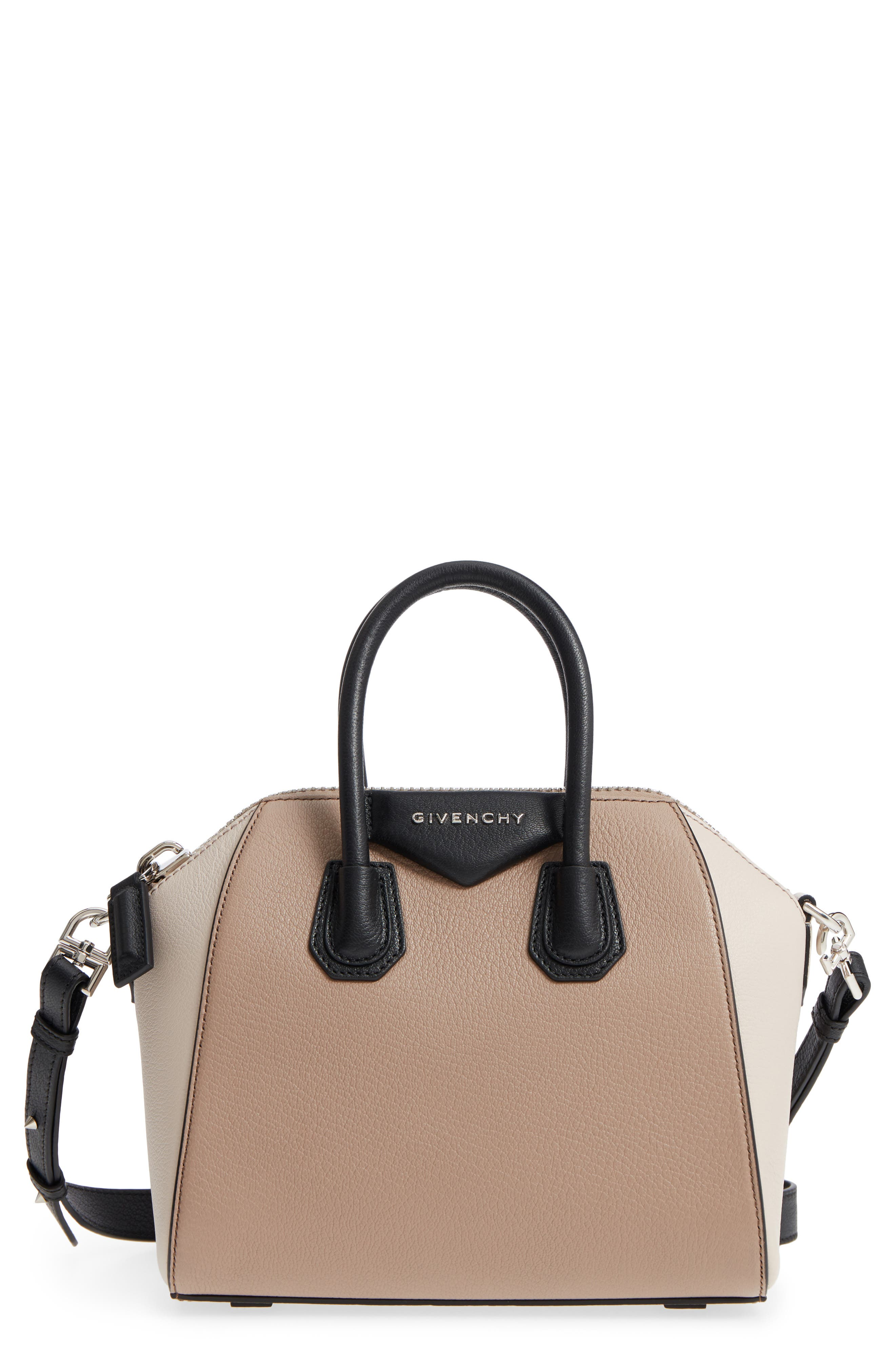 Givenchy Mini Antigona Tricolor Sugar Leather Satchel