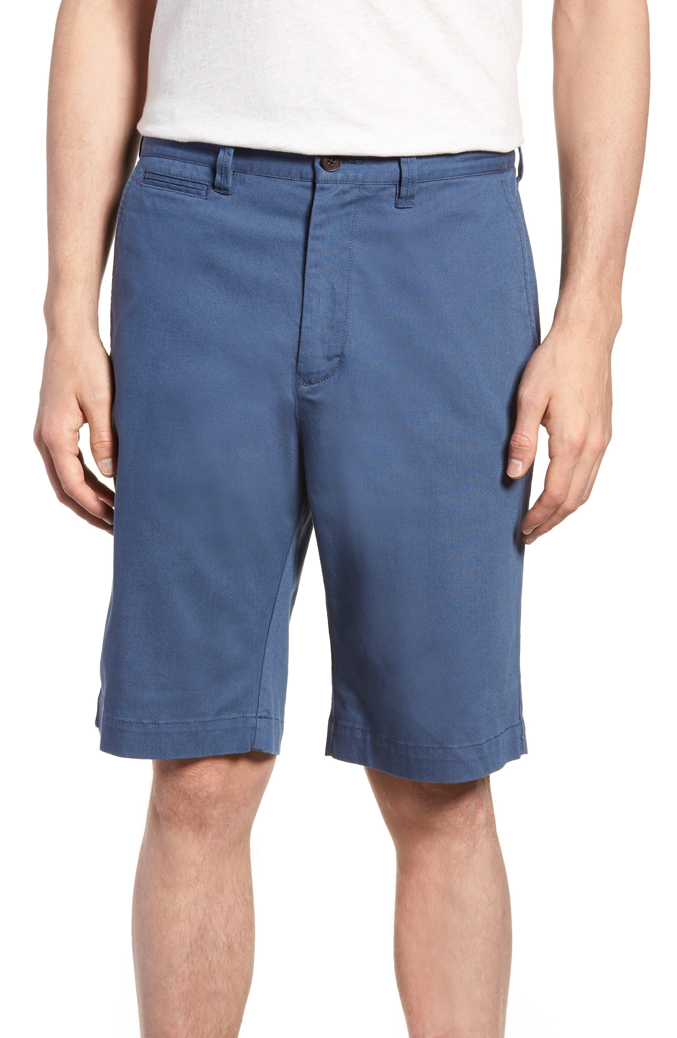 Driving Creek Regular Fit Flat Front Shorts,                         Main,                         color, Dusk
