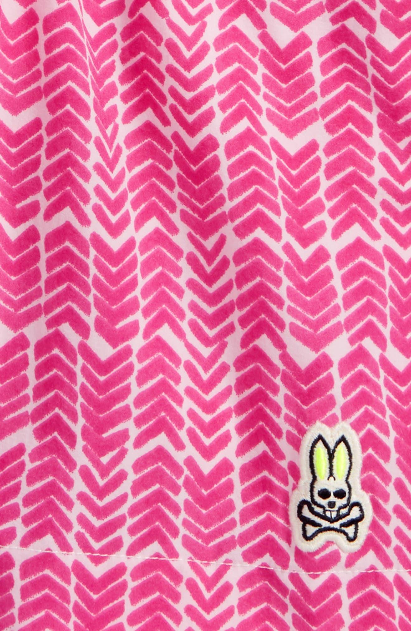Watermark Herringbone Swim Trunks,                             Alternate thumbnail 2, color,                             Fushia