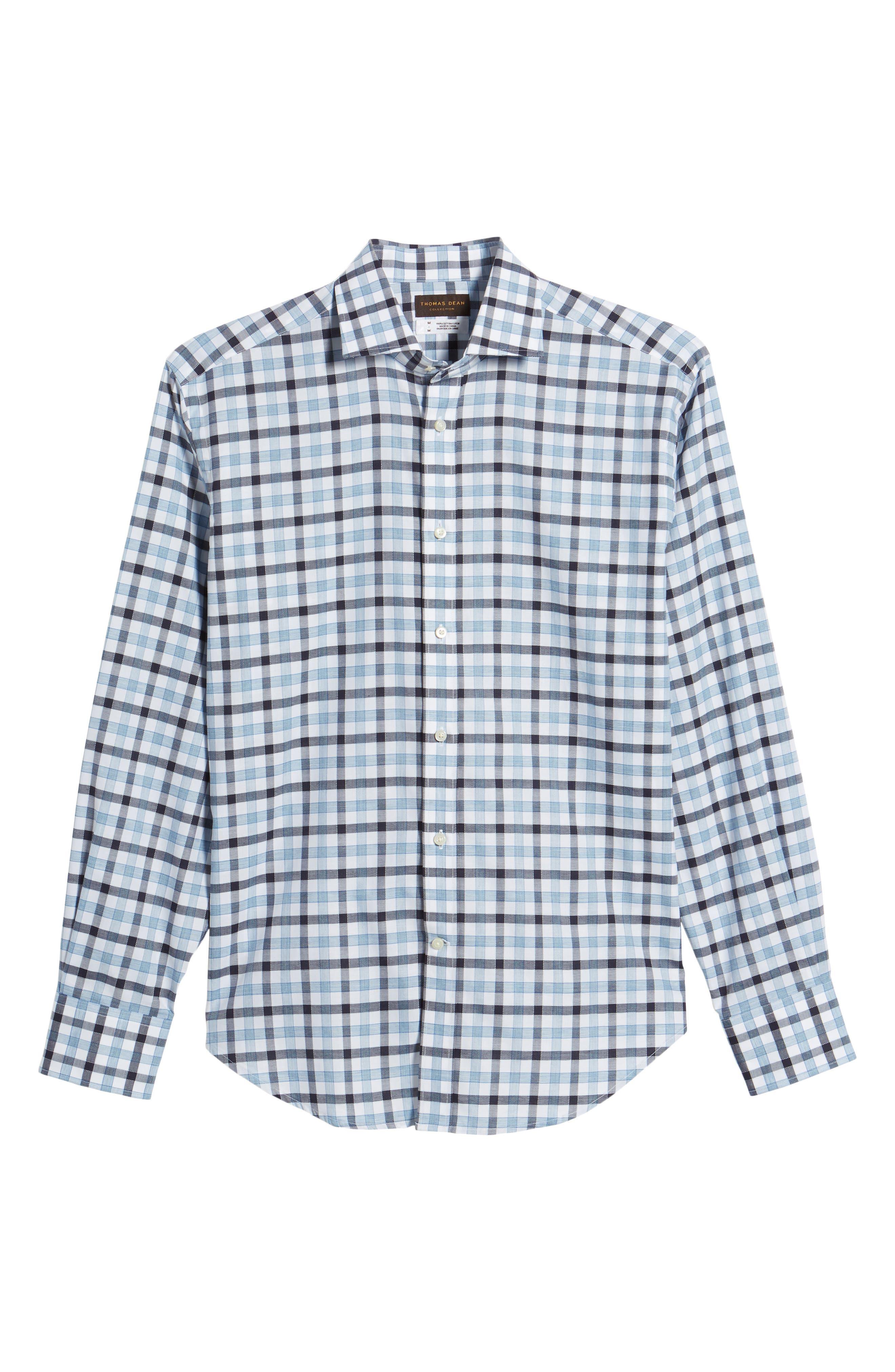 Check Sport Shirt,                             Alternate thumbnail 6, color,                             Blue