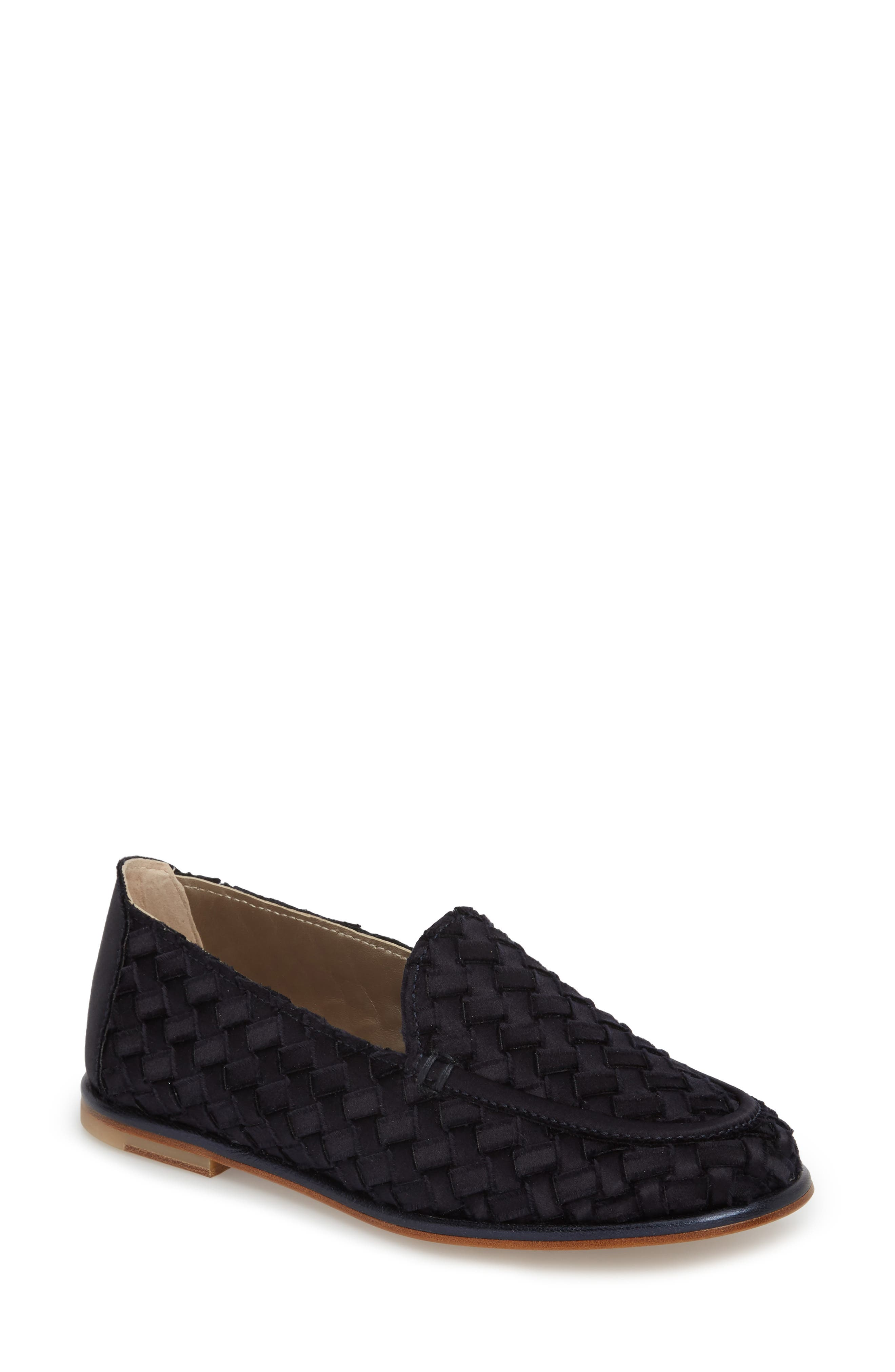Woven Loafer,                             Main thumbnail 1, color,                             Blue Satin