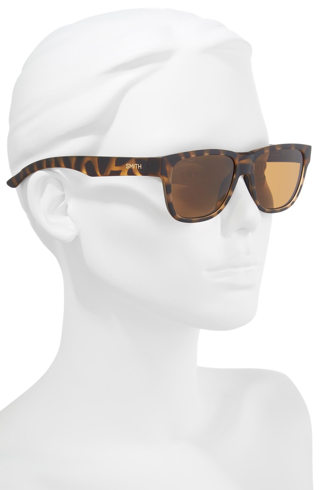 Lowdown Slim 2 53mm ChromaPop<sup>™</sup> Square Sunglasses,                             Alternate thumbnail 2, color,                             Matte Tortoise
