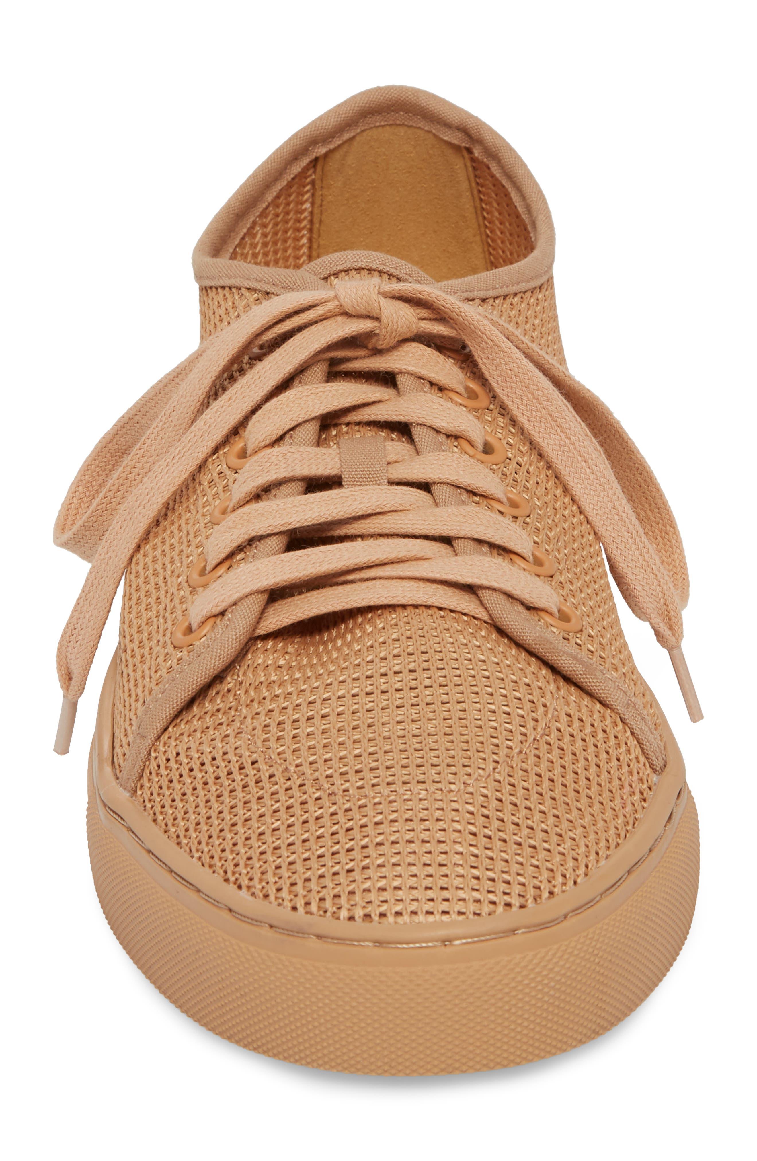 Abel Mesh Sneaker,                             Alternate thumbnail 4, color,                             Sand Mesh