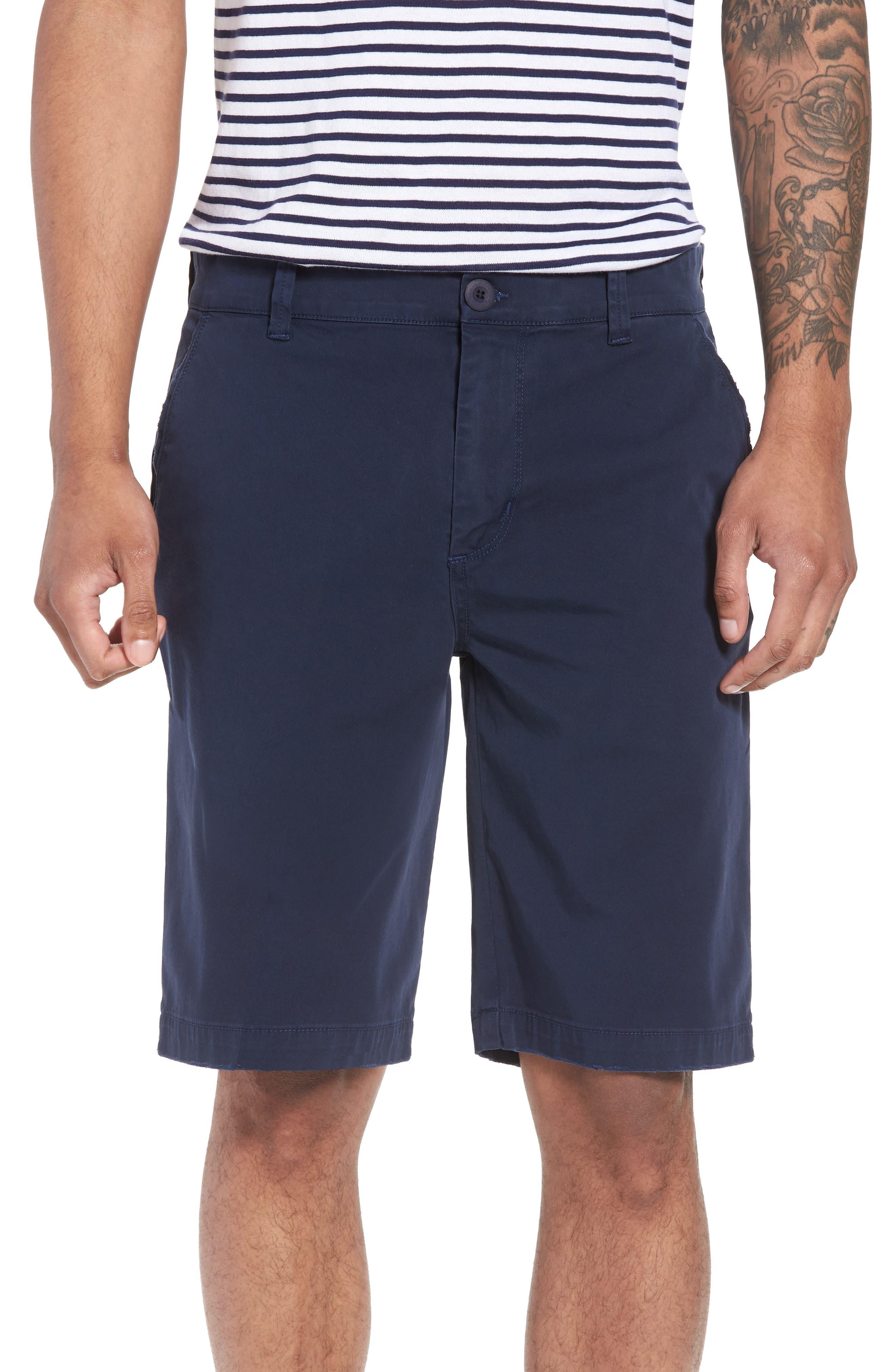 Hudson Clint Chino Shorts,                             Main thumbnail 1, color,                             Navy