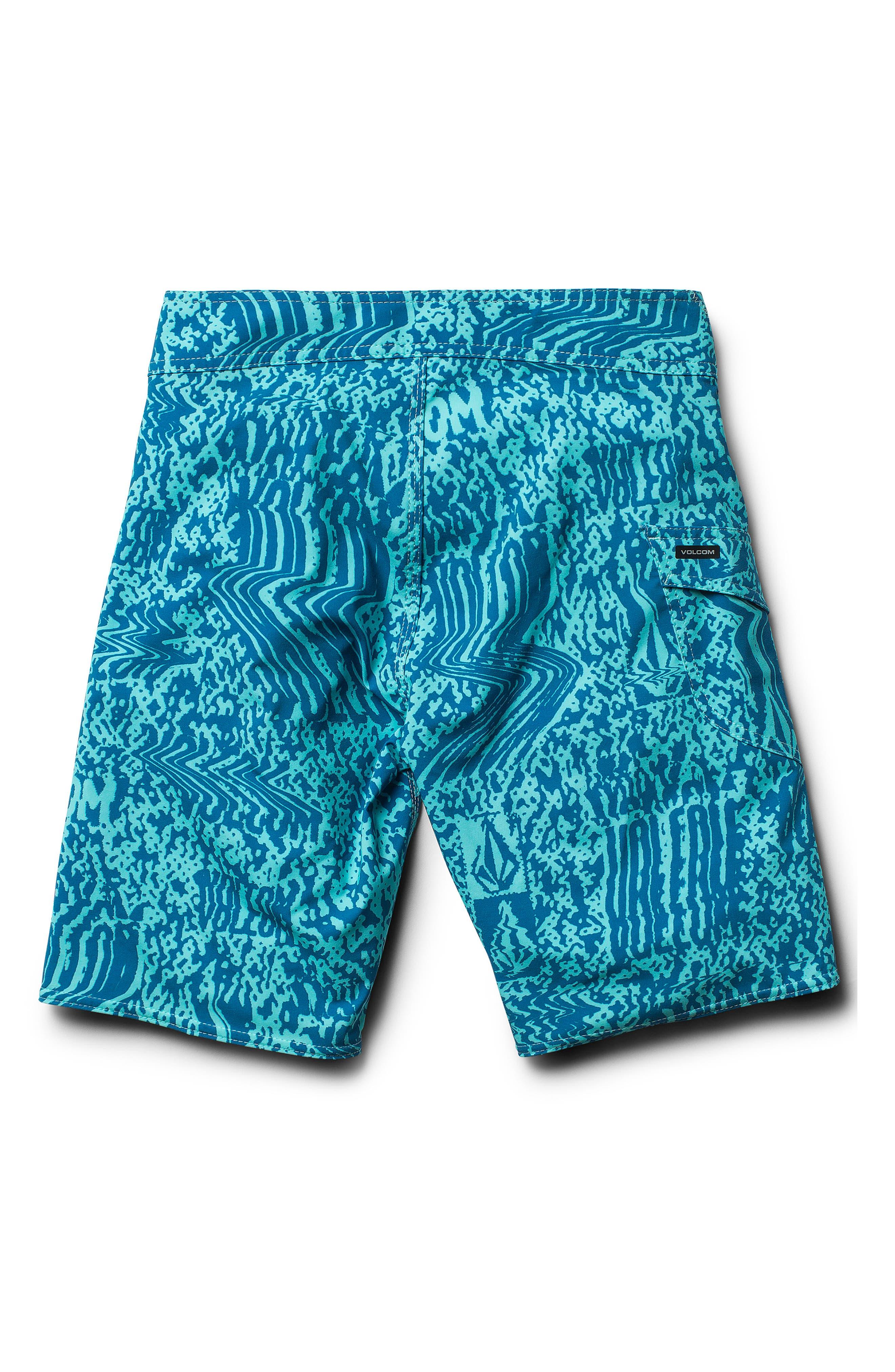 Logo Plasm Mod Board Shorts,                             Alternate thumbnail 2, color,                             Bright Turquoise