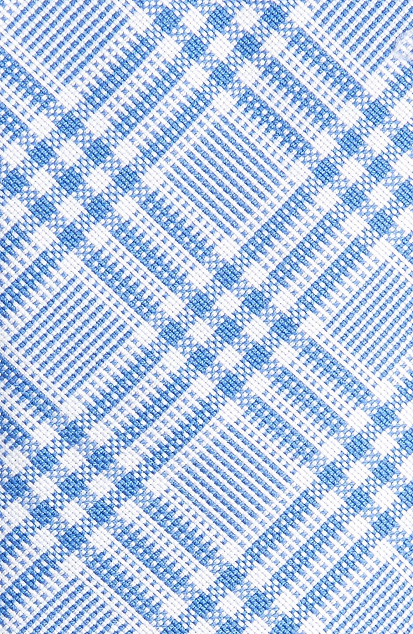 Brook Plaid Cotton Skinny Tie,                             Alternate thumbnail 2, color,                             Blue