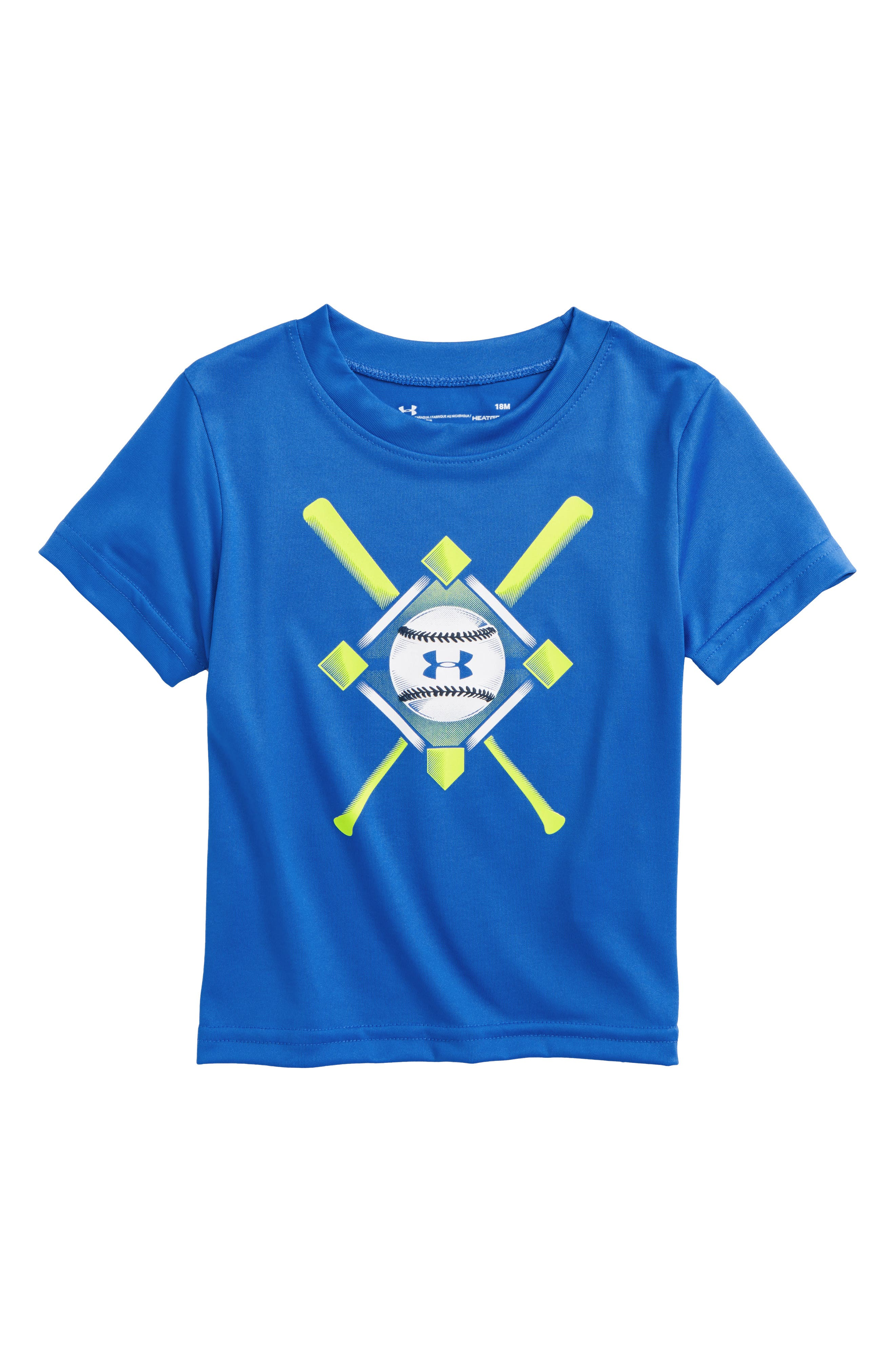 Baseball Anthem Graphic HeatGear<sup>®</sup> T-Shirt,                         Main,                         color, Mediterranean