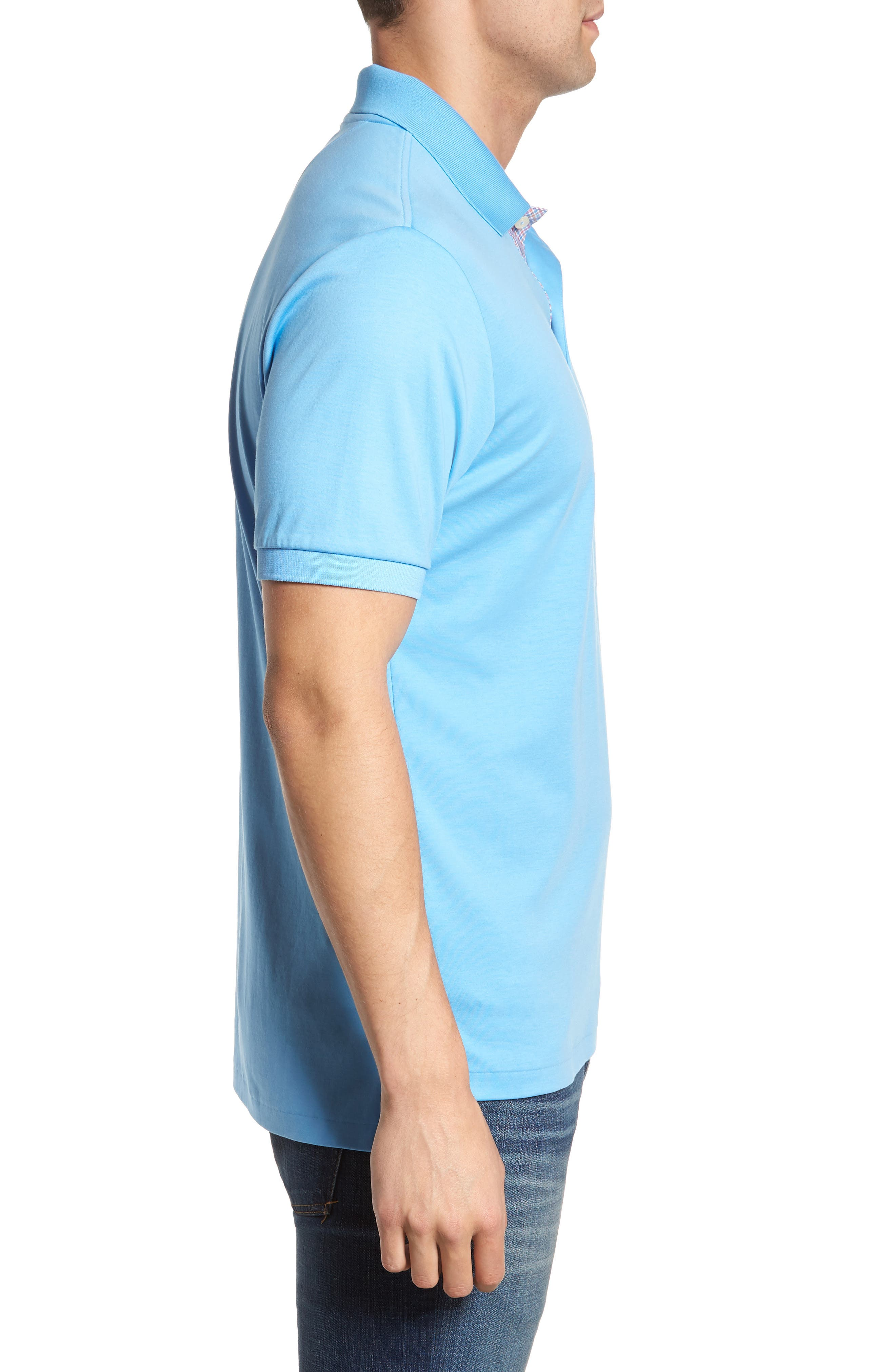 Sugar Mill Jersey Polo,                             Alternate thumbnail 3, color,                             Ocean Channel